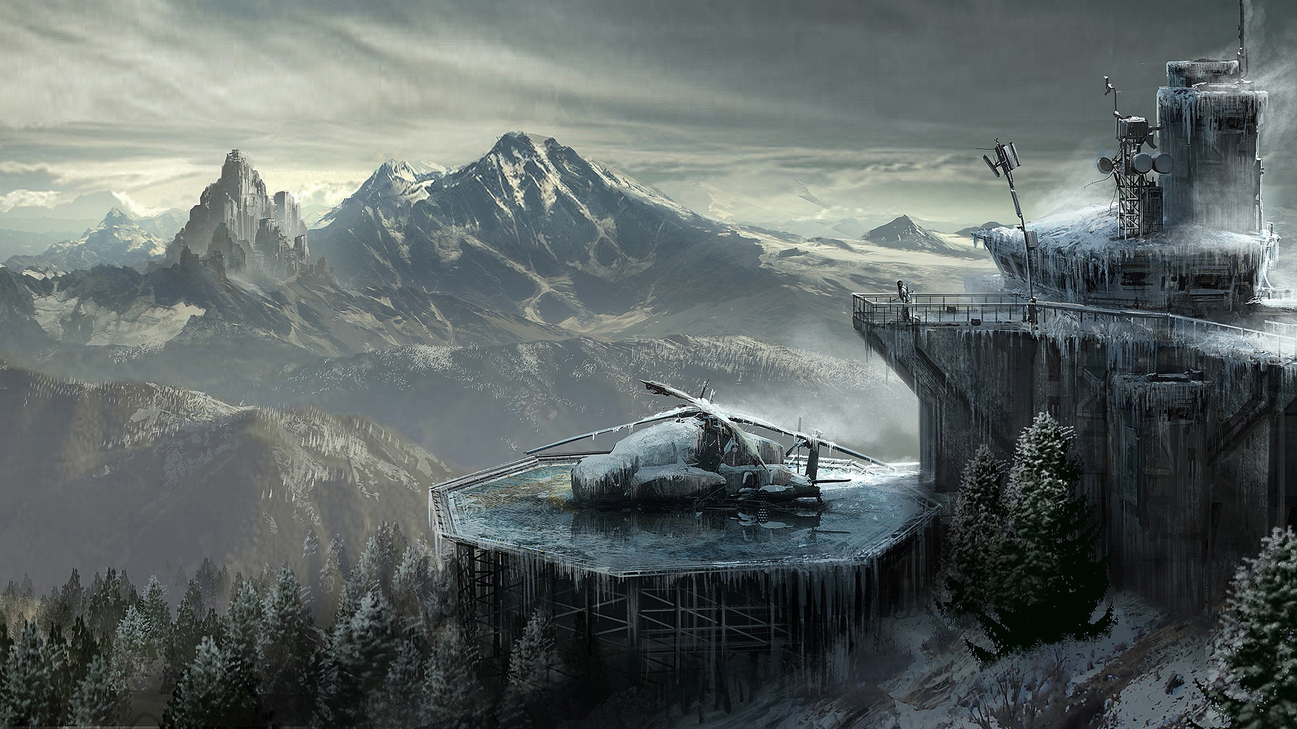 Res: 2560x1440, Rise Of The Tomb Raider Concept Art