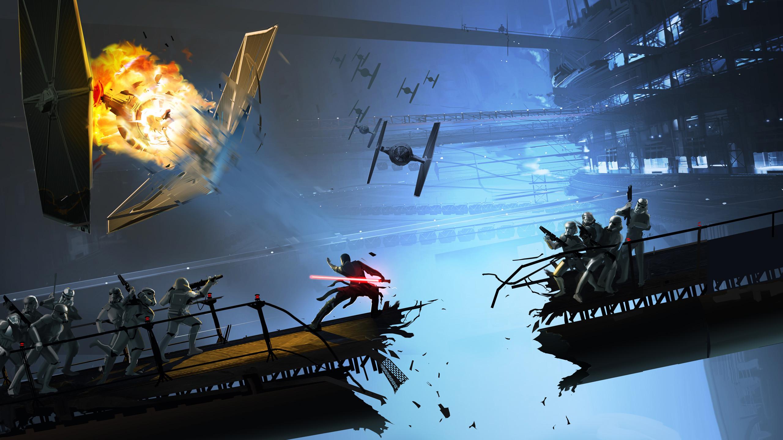 Res: 2560x1440, Star Wars Concept Art Wallpaper