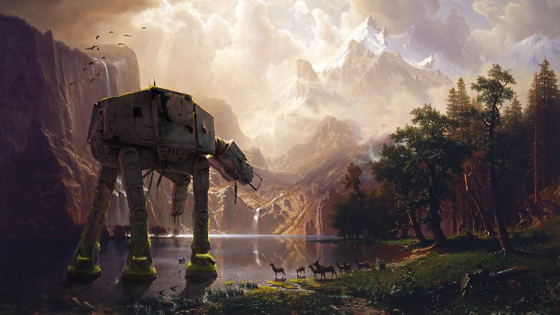 Res: 1920x1080, star wars giant robot concept art hd wallpaper