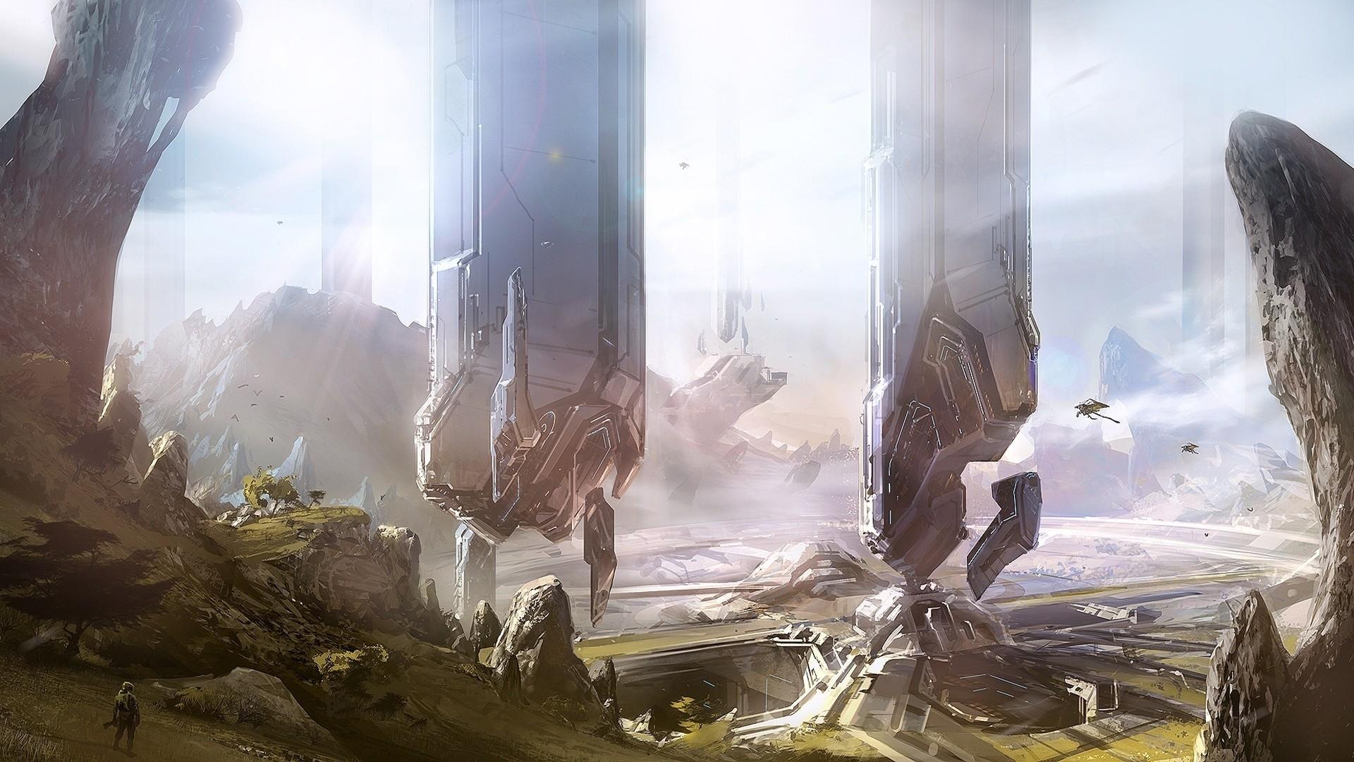 Res: 1920x1080, Title : wallpaper : video games, concept art, mythology, halo 4,  screenshot. Dimension : 1920 x 1080. File Type : JPG/JPEG