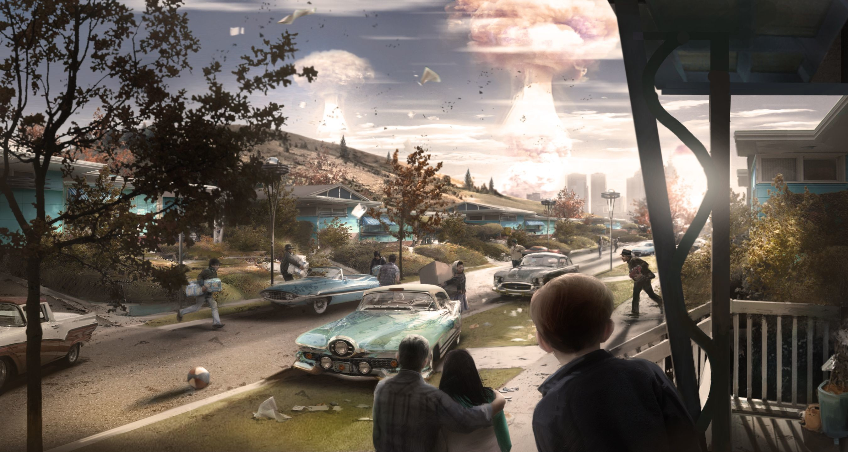 Res: 2700x1442, Fallout 4's concept art is wallpaper worthy