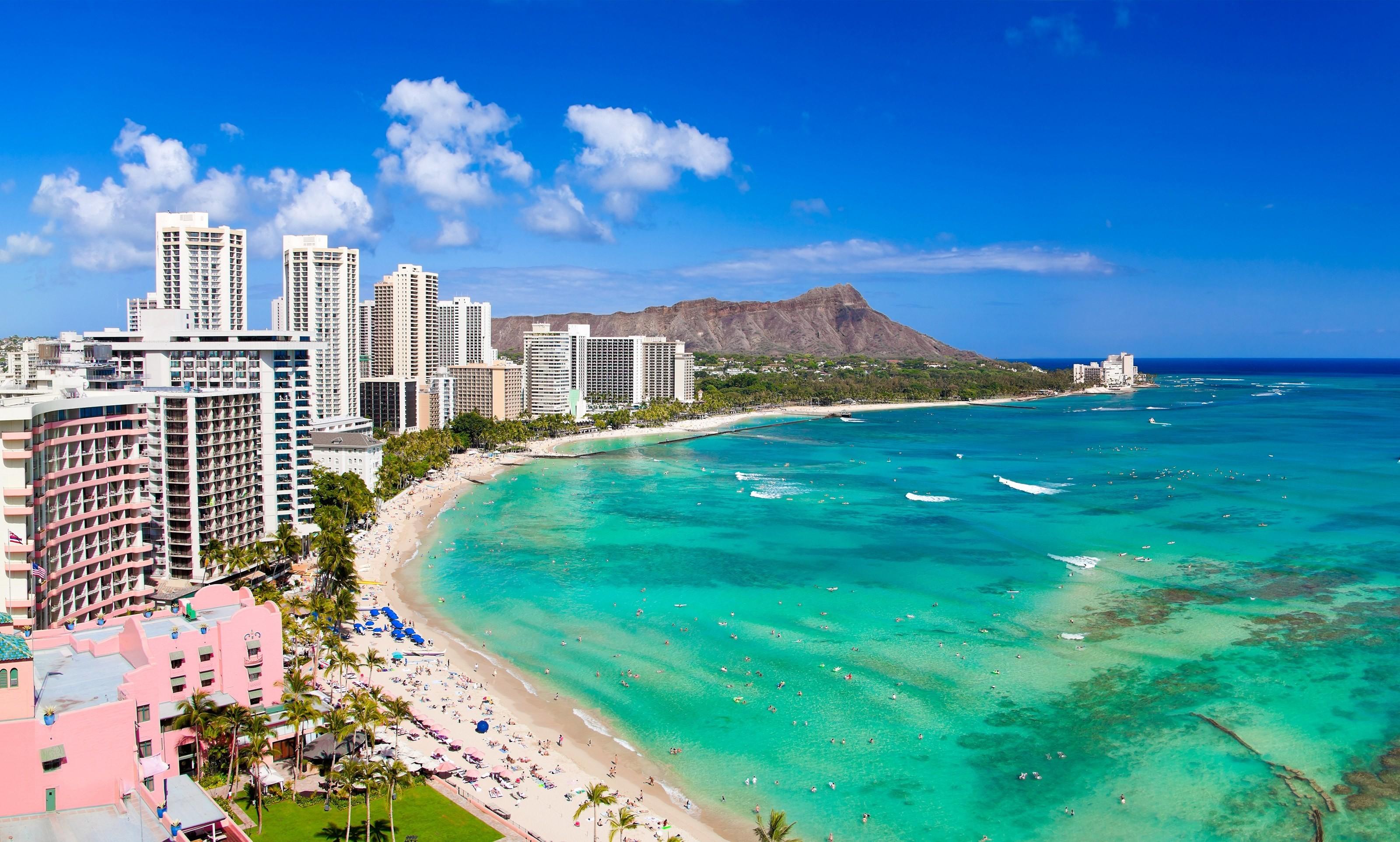 Res: 3200x1924, Download Waikiki Beach Wallpaper 4
