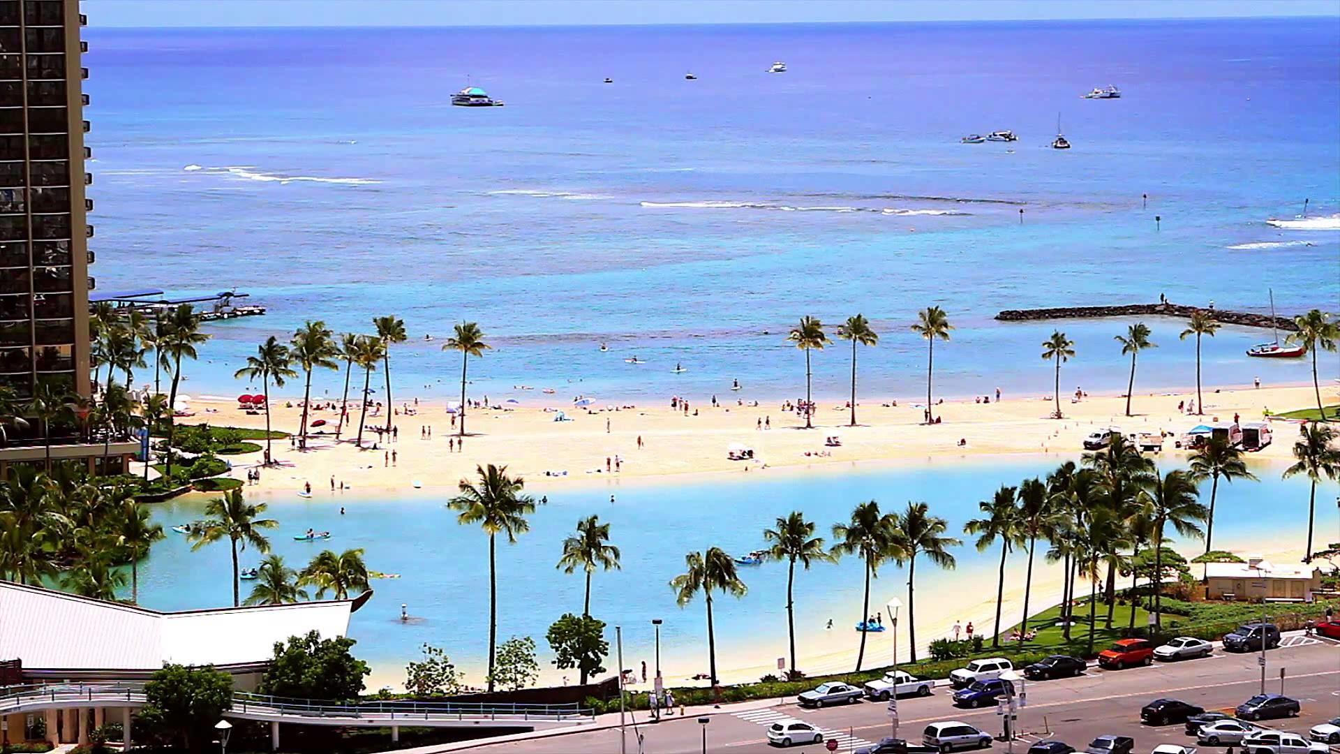 Res: 1920x1080, Waikiki Beach Hd Wallpaper
