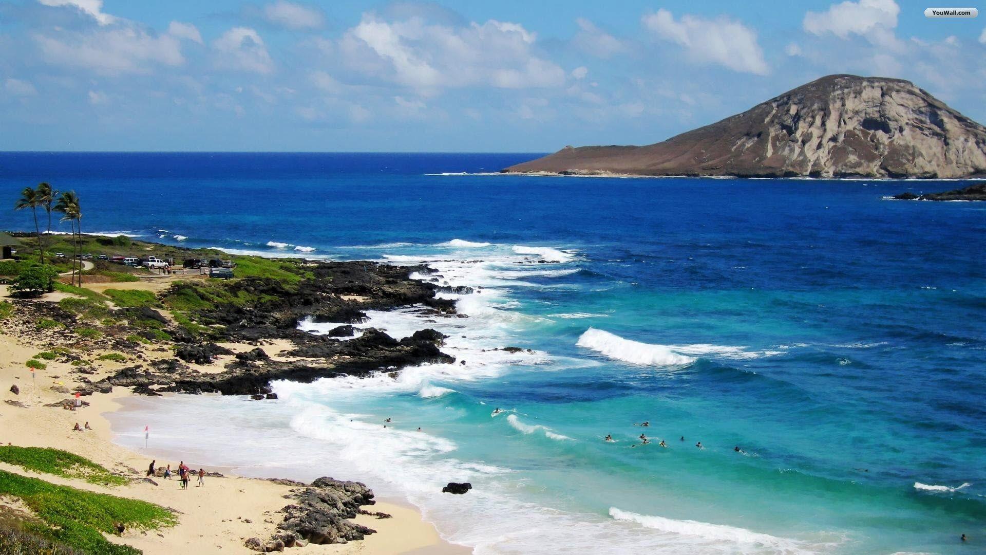 Res: 1920x1080, Beaches at North-Eastern Oahu Shore, Makapu'u Beach Park, Hawaii