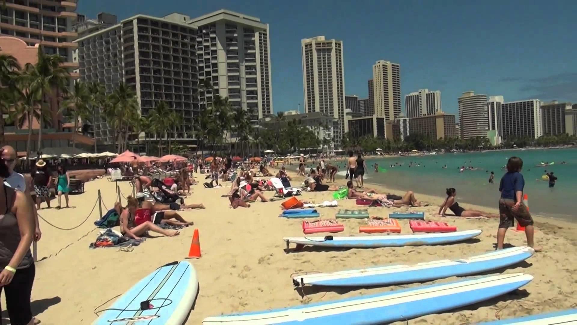 Res: 1920x1080, Take a Walk Down Waikiki Beach