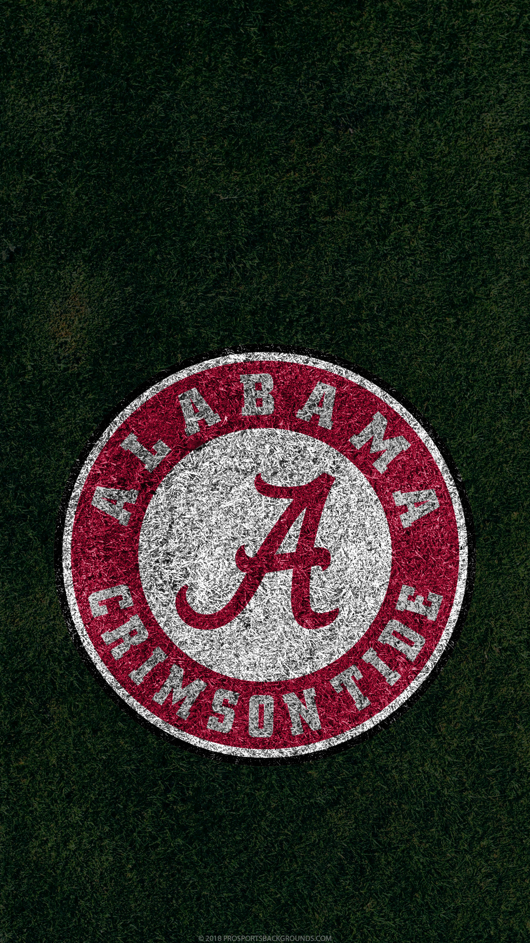 Res: 1080x1920, Alabama Crimson Tide 2018 ncaa football grass team logo wallpaper for  iphone andriod and windows mobile ...
