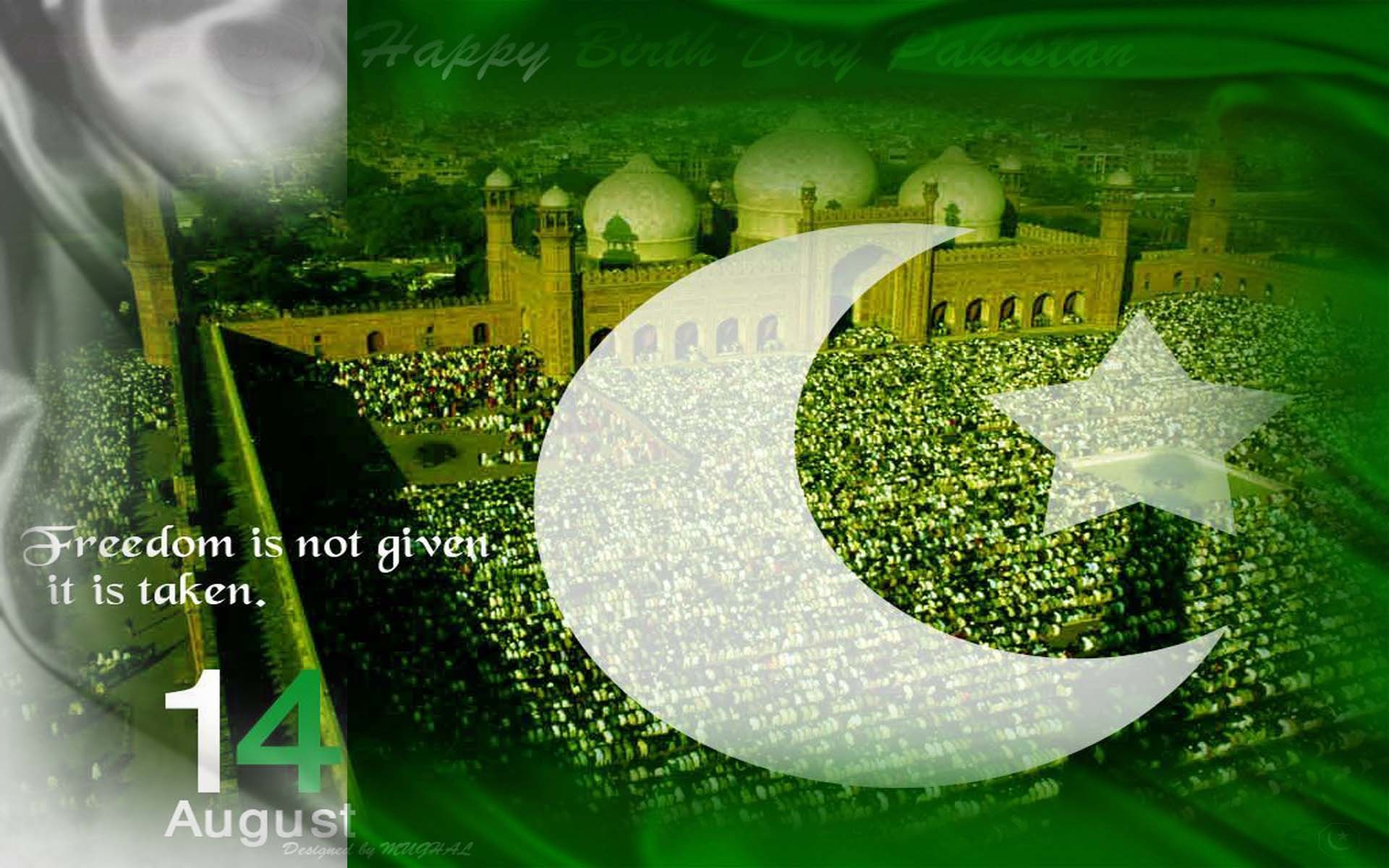 Res: 1920x1200, Independence Day of Pakistan 2014 - HD Wallpapers OnlyHD .