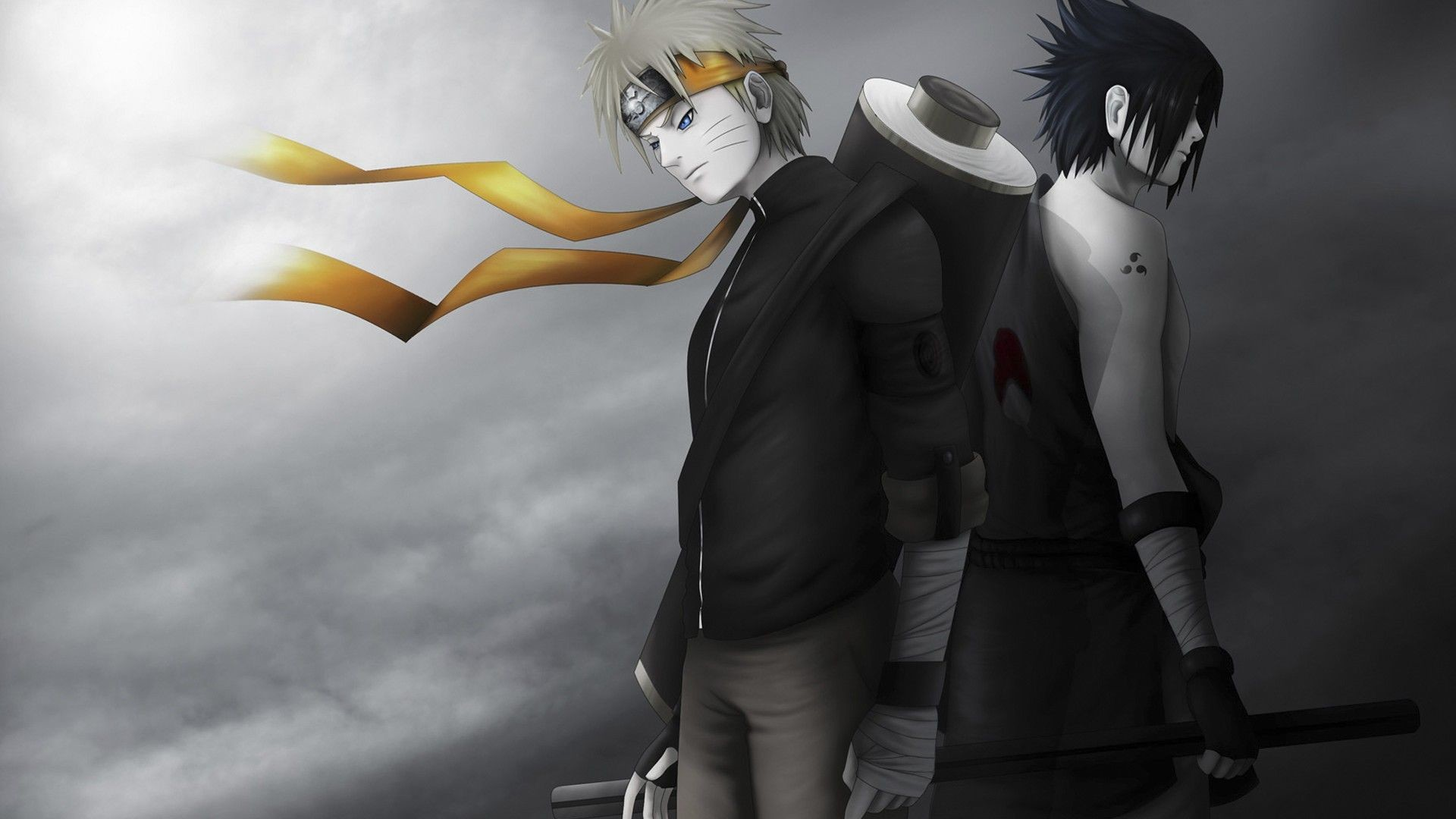 Res: 1920x1080, ... naruto-wallpaper-beautiful-black-and-white ...