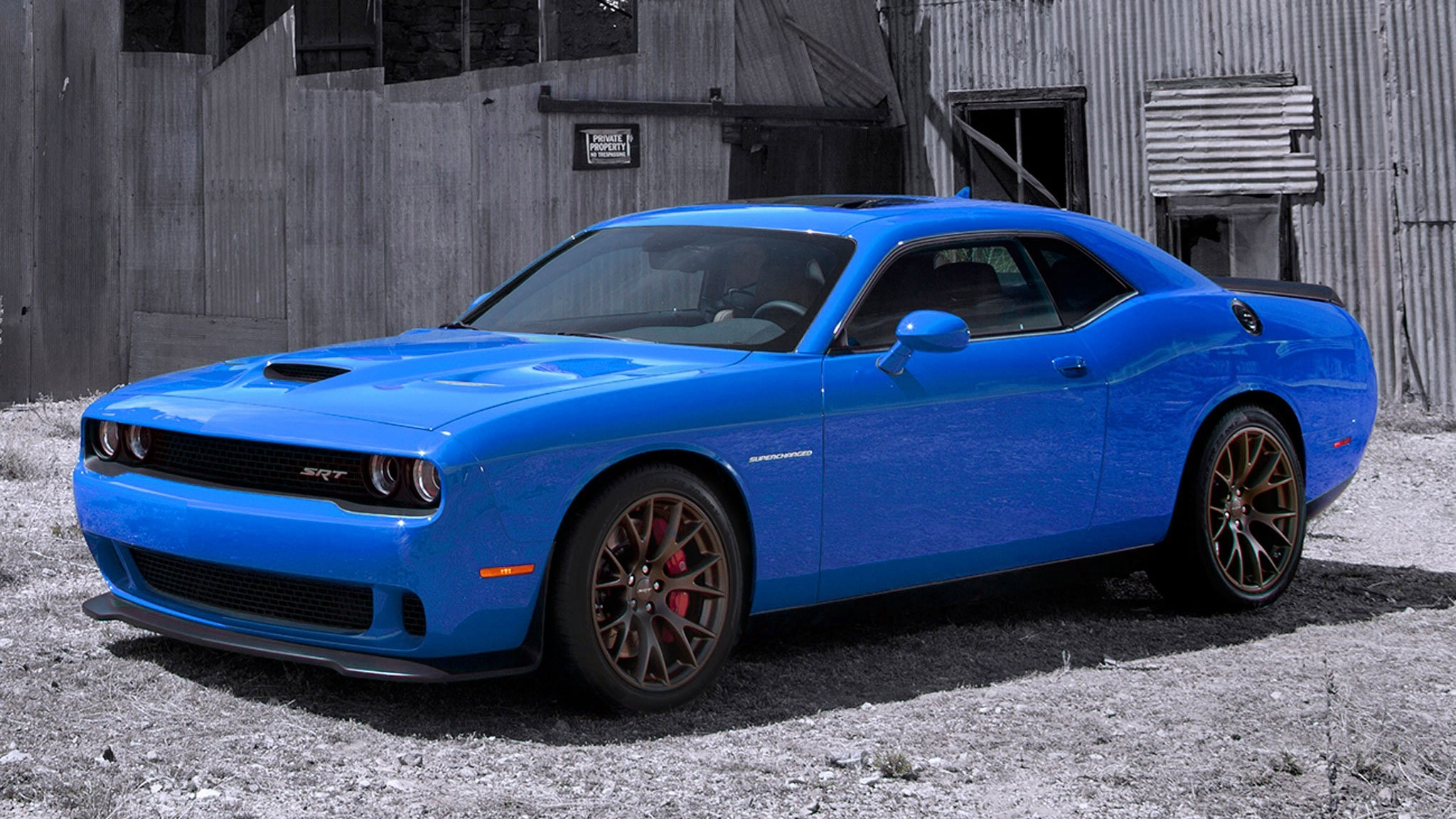 Res: 2048x1152, Amazing Looking Dodge Challenger Hellcats Wallpaper B4 Blue