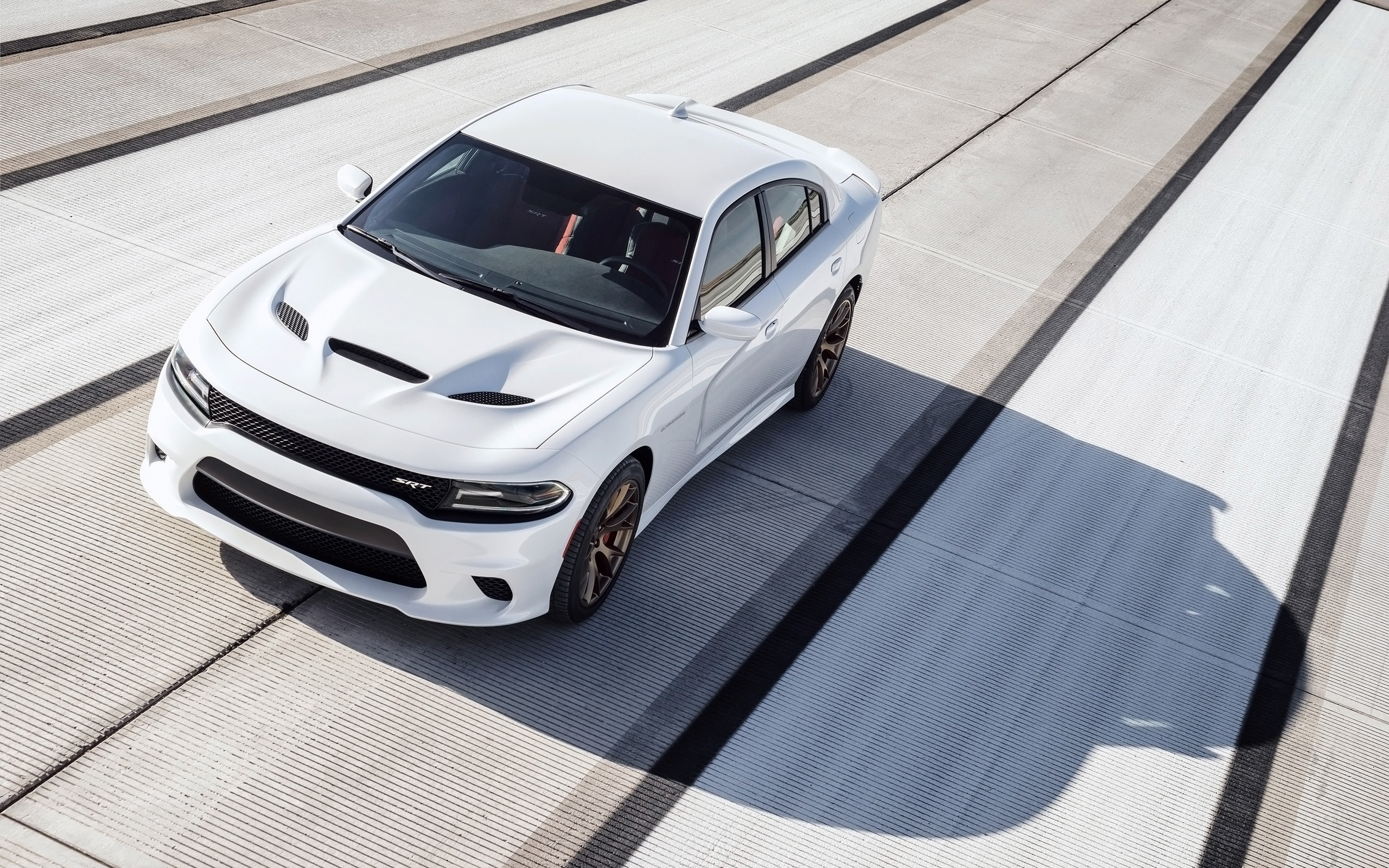 Res: 2560x1600, 2015 Dodge Charger SRT Hellcat - White Track - 12 -  - Wallpaper