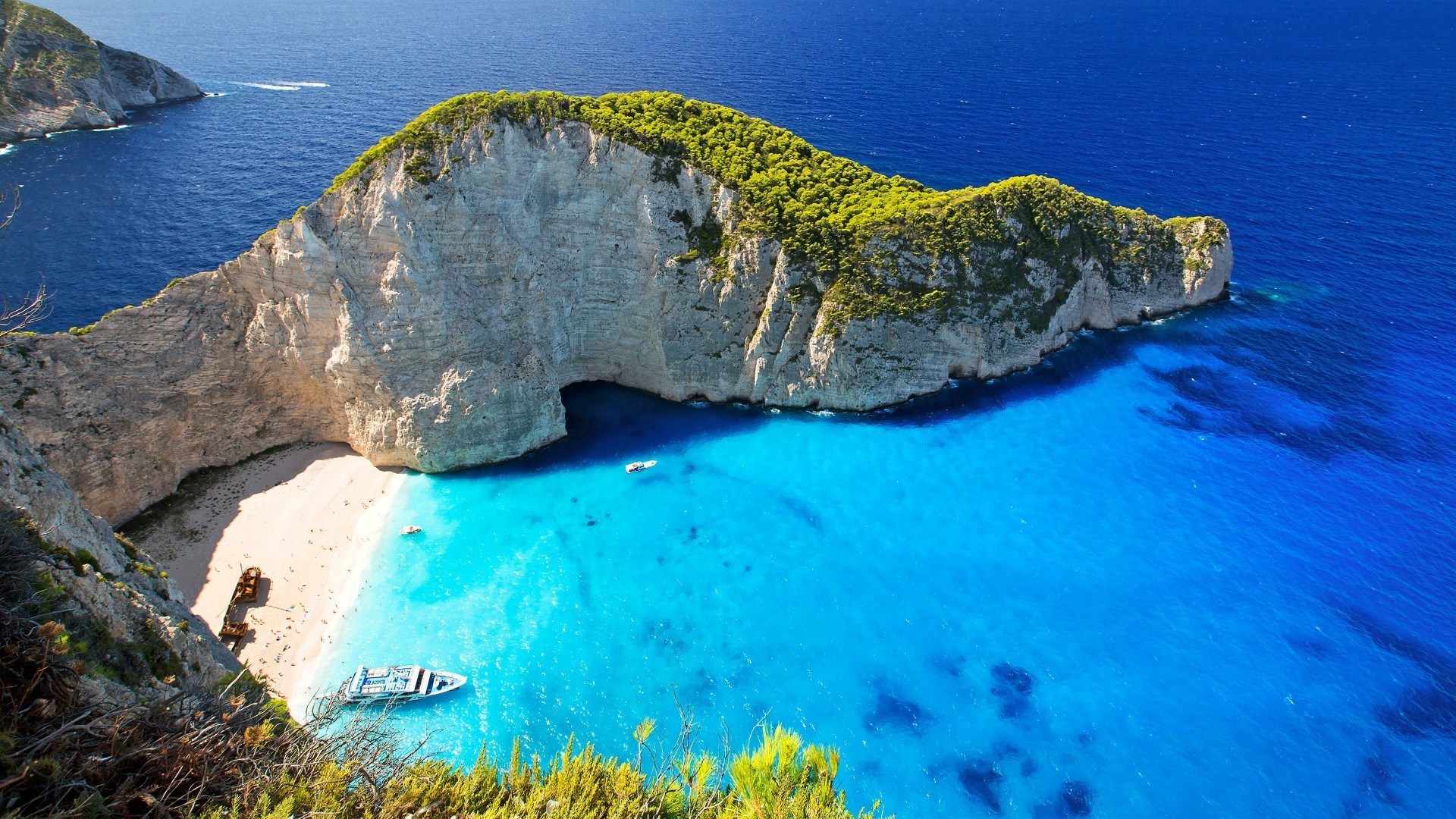 Res: 1920x1080, Navagio Bay On Zakynthos Island Wallpaper | Wallpaper Studio 10 | Tens of  thousands HD and UltraHD wallpapers for Android, Windows and Xbox