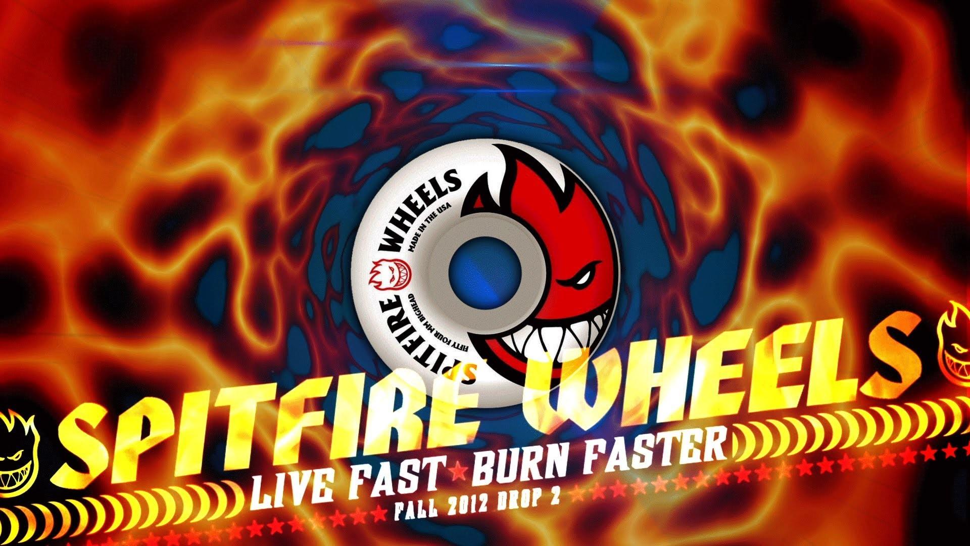 Res: 1920x1080, Spitfire Wheels - Live Fast - Burn Faster