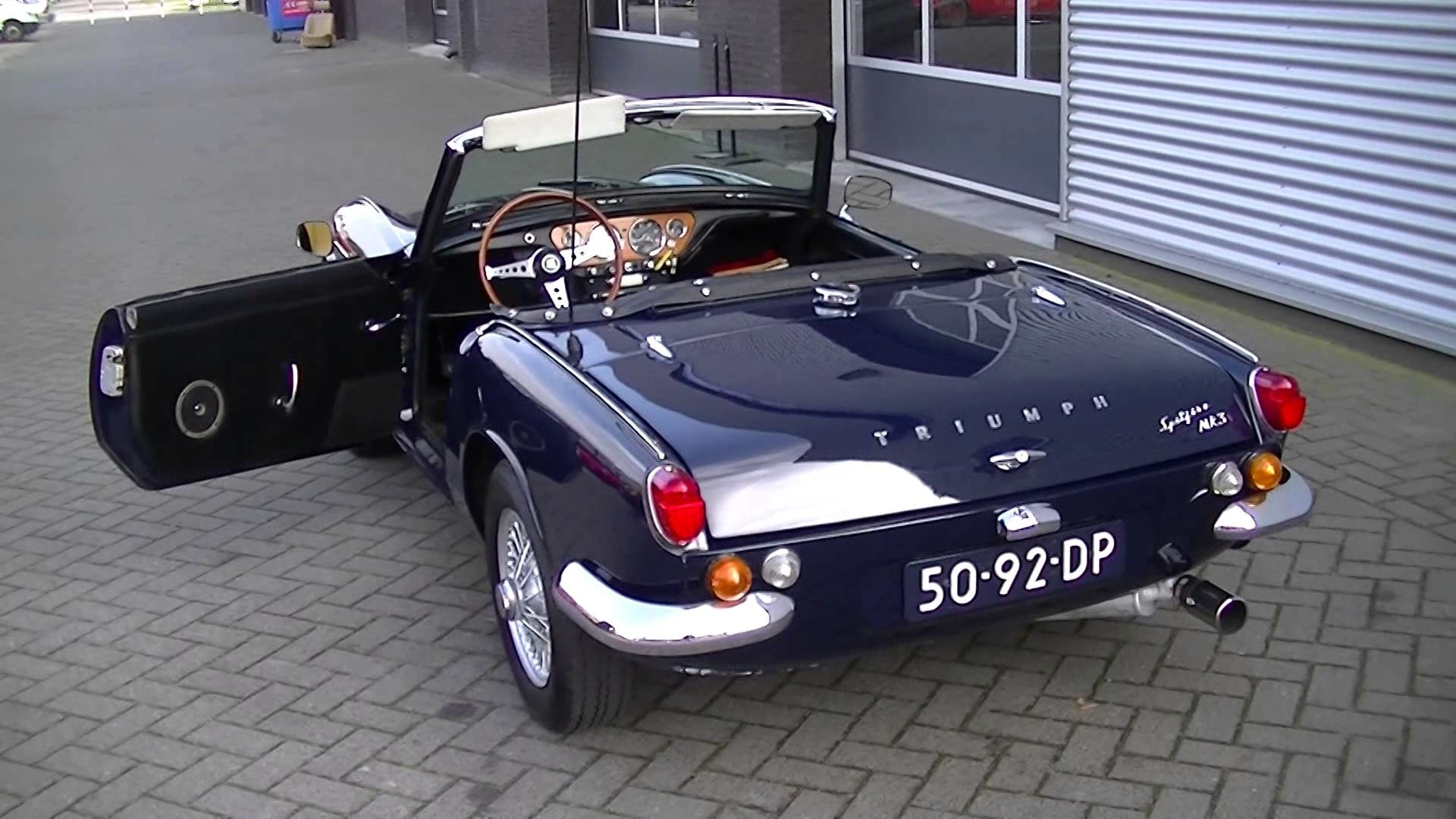 Res: 1920x1080, Triumph Spitfire mkIII 1967 wire wheels very good condition -VIDEO-  www.ERclassics.com - YouTube