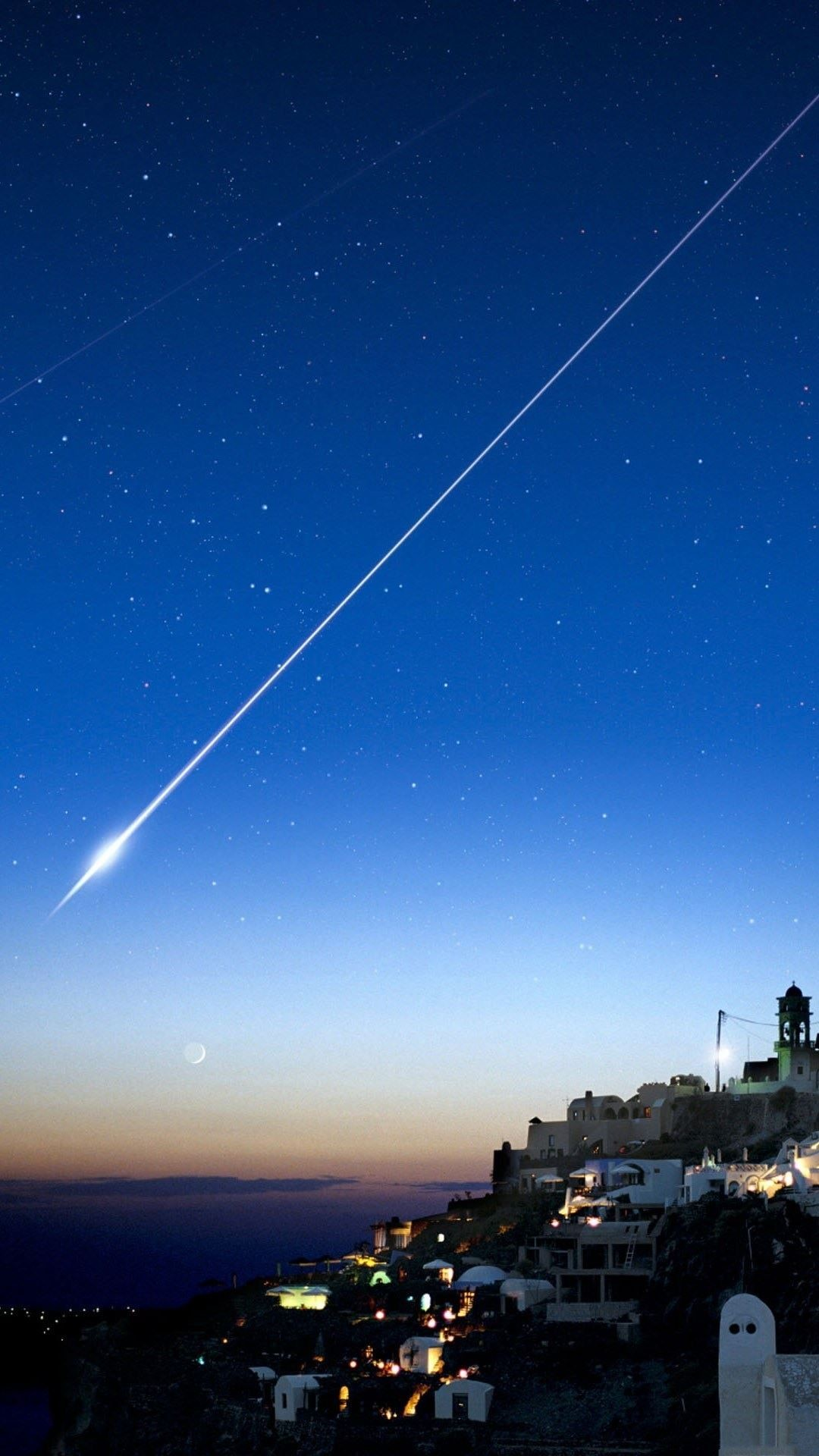 Res: 1080x1920, Shooting Star Over Cliff City #iPhone #7 #wallpaper