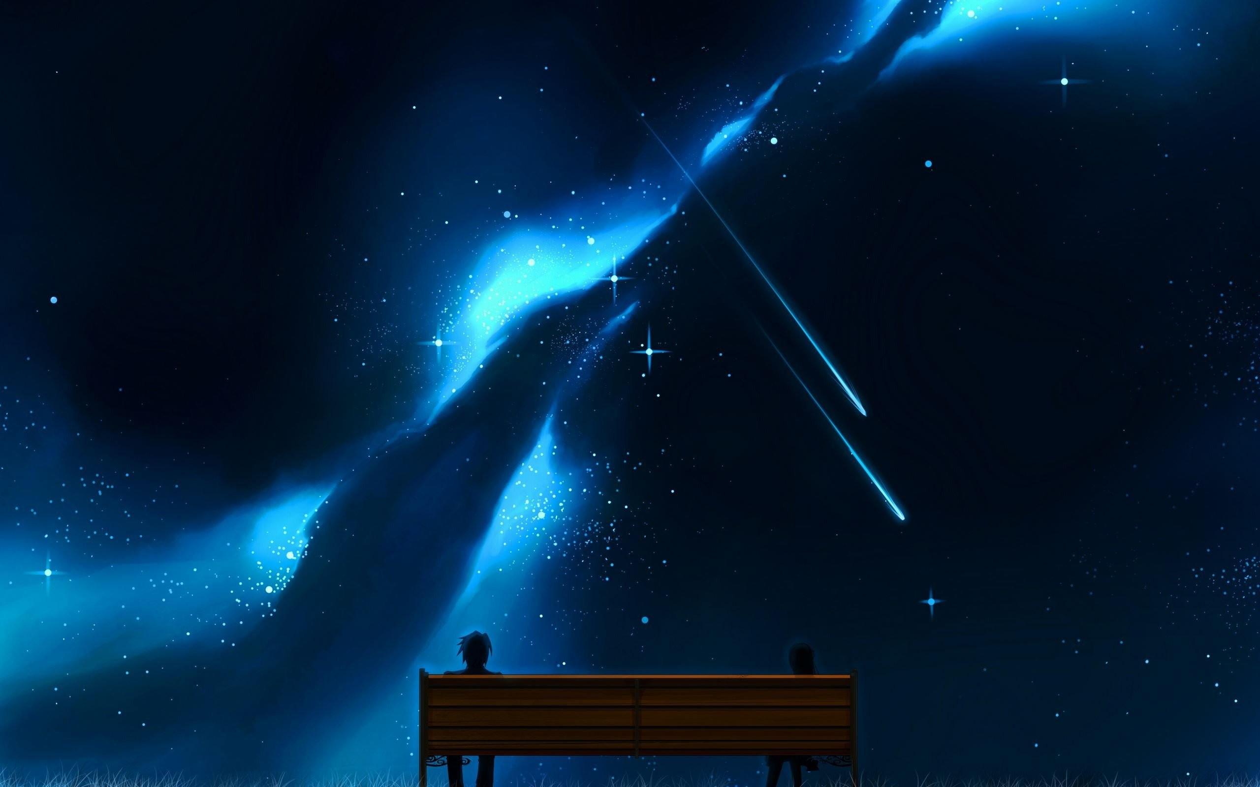 Res: 2560x1600, Shooting Stars Bench anime sky wallpaper |  | 726889 | WallpaperUP