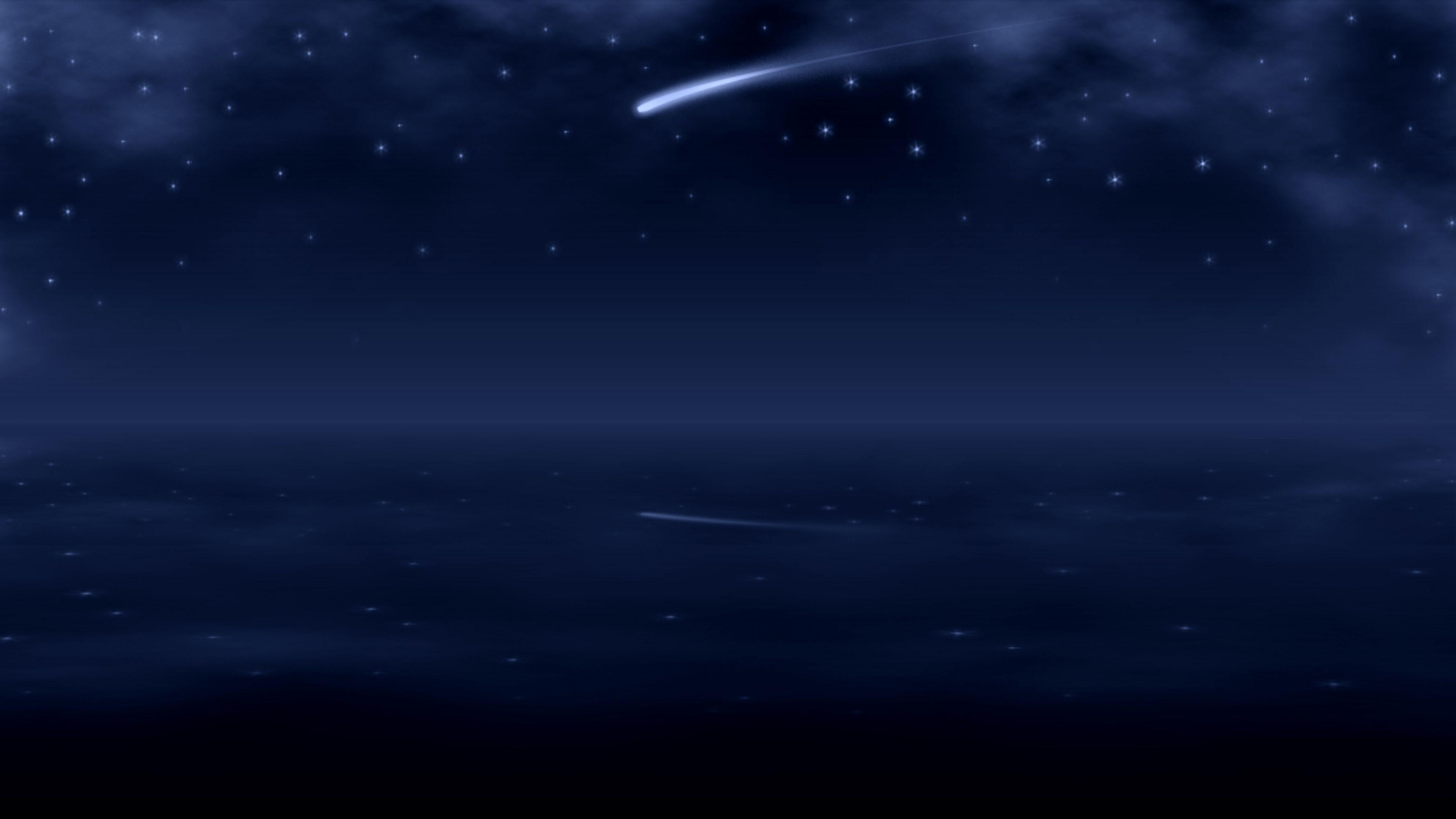Res: 3840x2160, Bright Shooting Star 4K Wallpaper