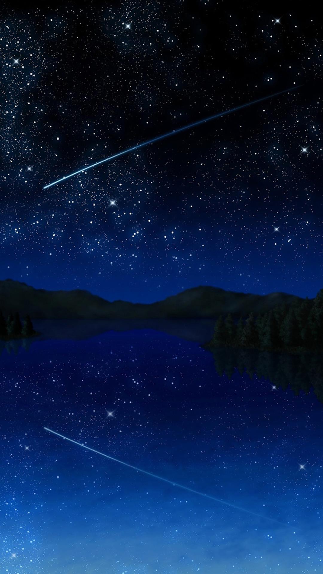 Res: 1080x1920, Shooting Star Sky Samsung Wallpaper