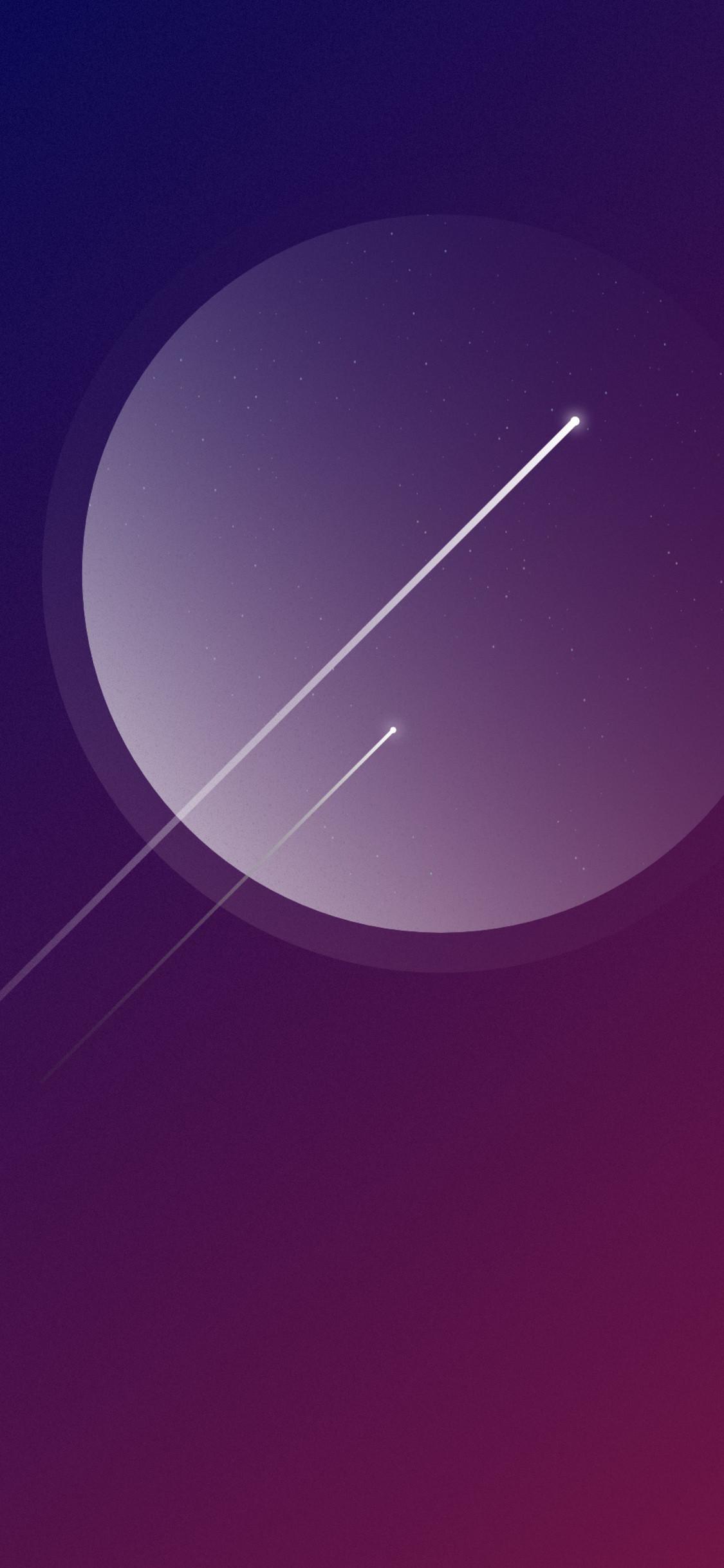 Res: 1125x2436, minimalism-shooting-stars-4k-7r.jpg