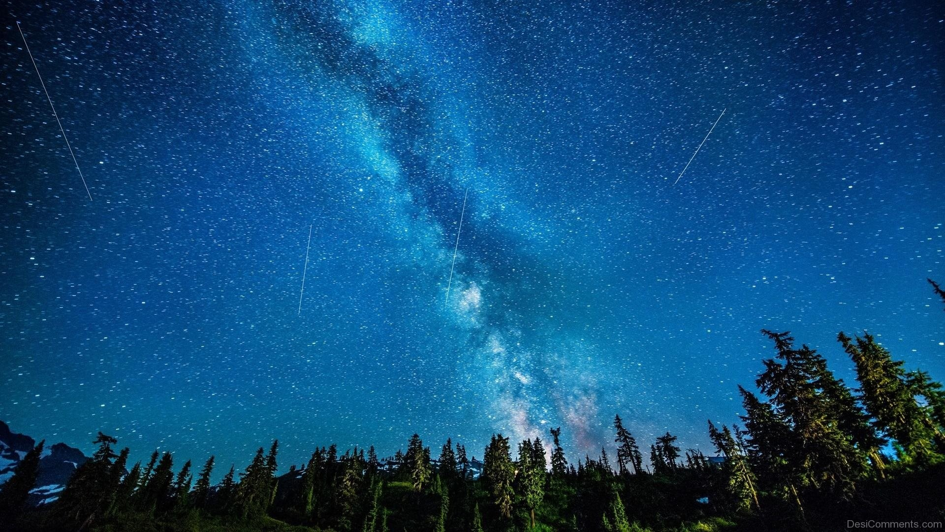 Res: 1920x1080, Shooting Stars