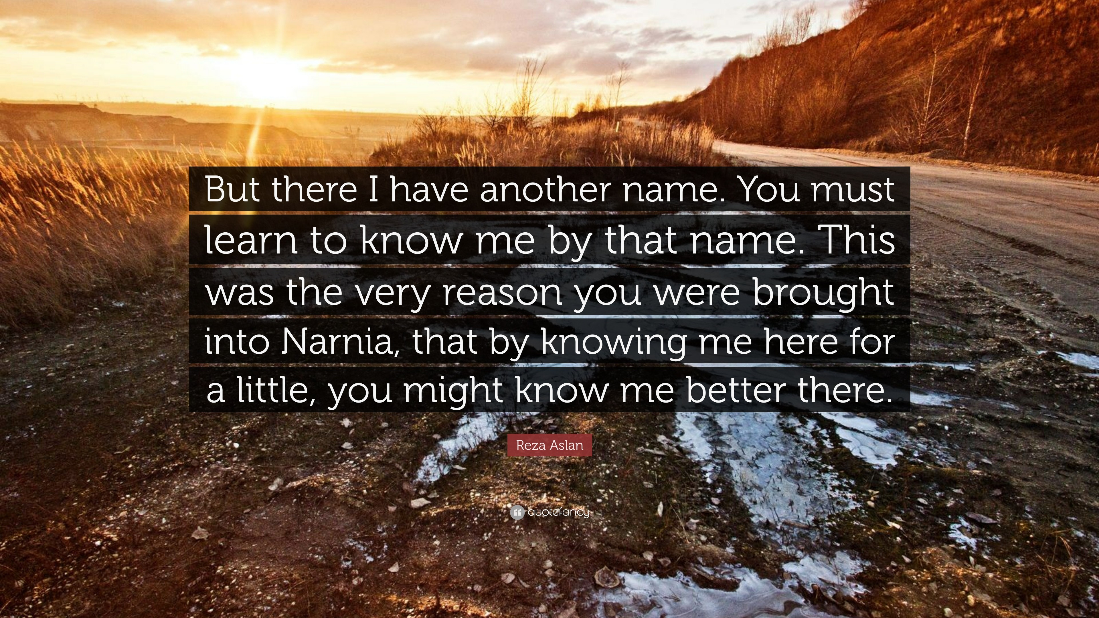 """Res: 3840x2160, Reza Aslan Quote: """"But there I have another name. You must learn to"""