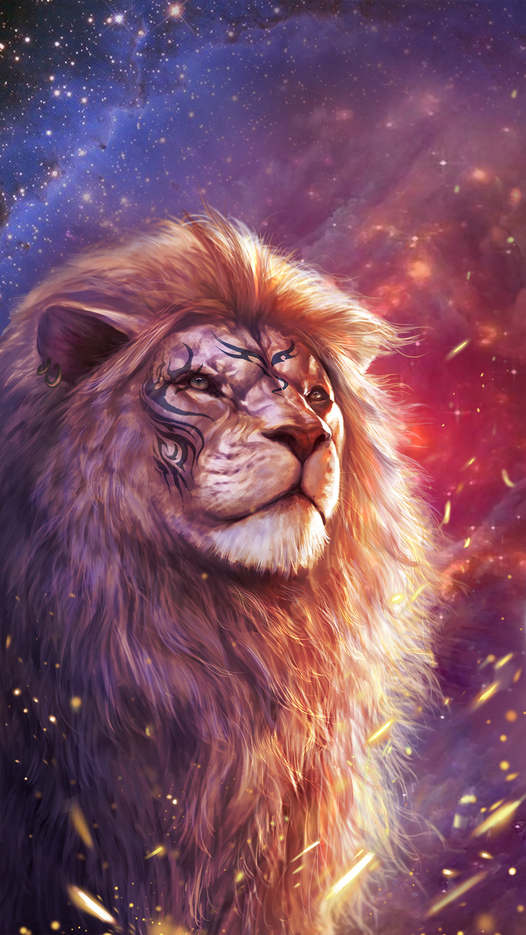 Res: 1080x1920, Cool lion wallpaper with totem tattoo!
