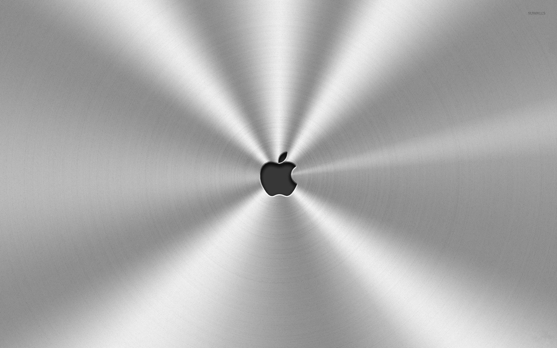 Res: 1920x1200, Apple logo surrounded by metal wallpaper