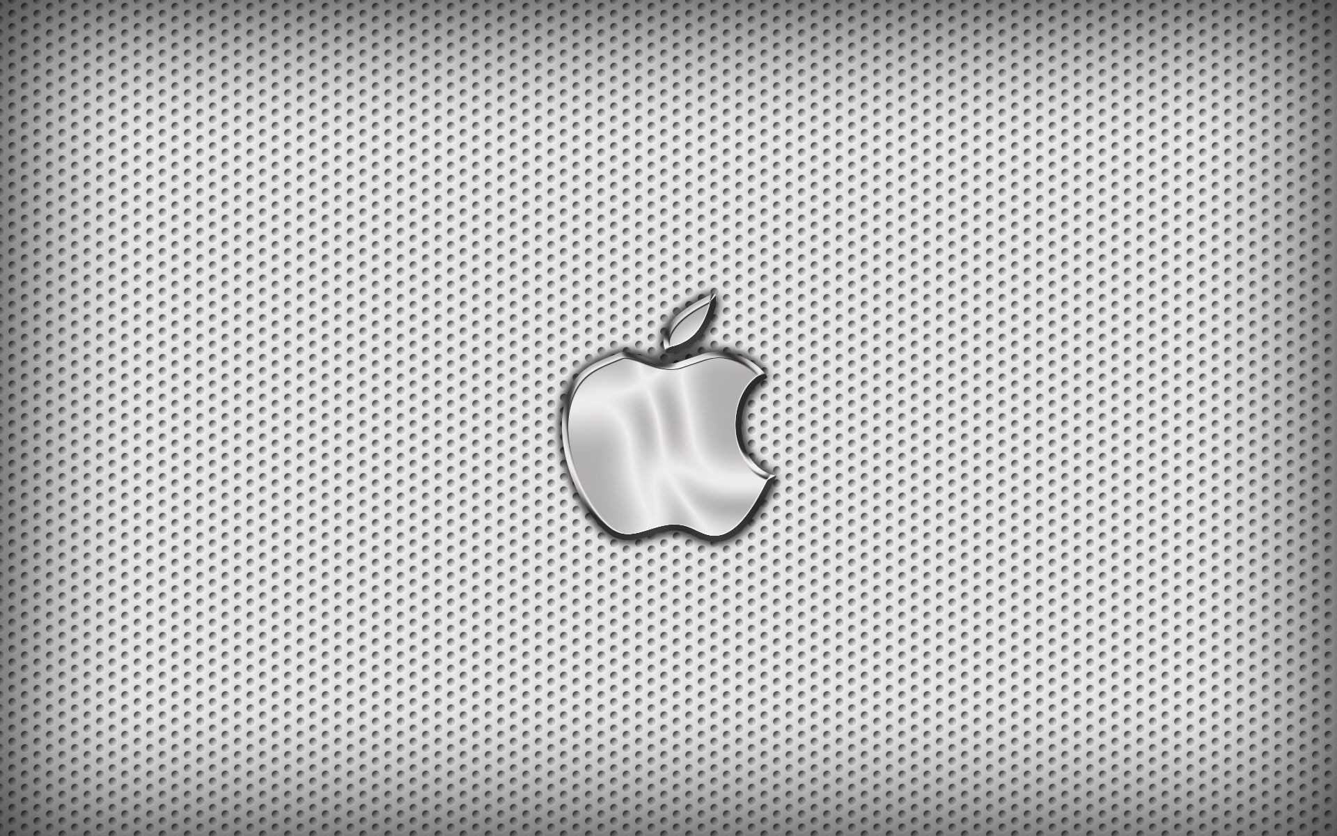 Res: 1920x1200, Chrome Apple Logo On Black Background iPhone Wallpaper | Metal