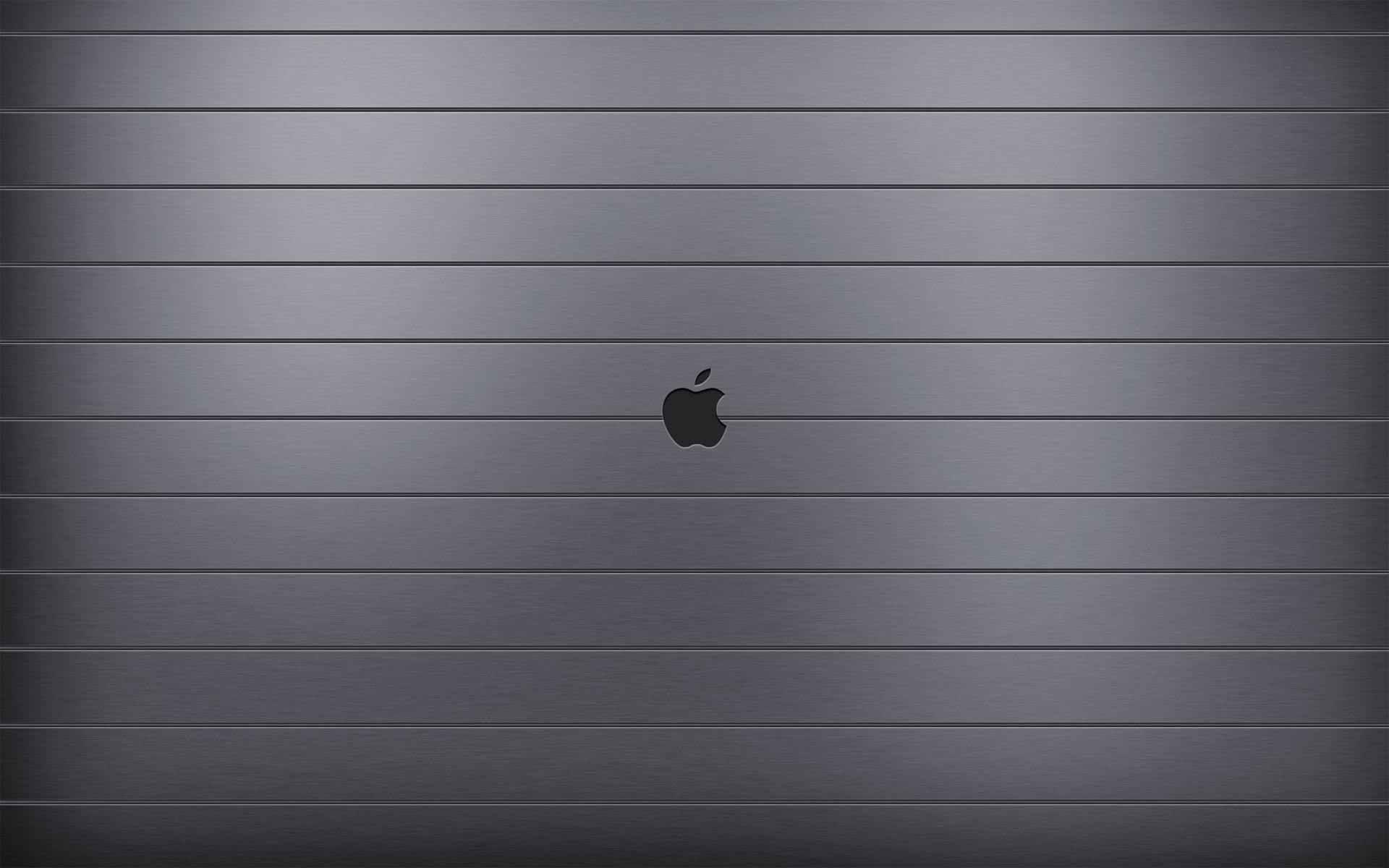 Res: 1920x1200, Apple on metal stripes