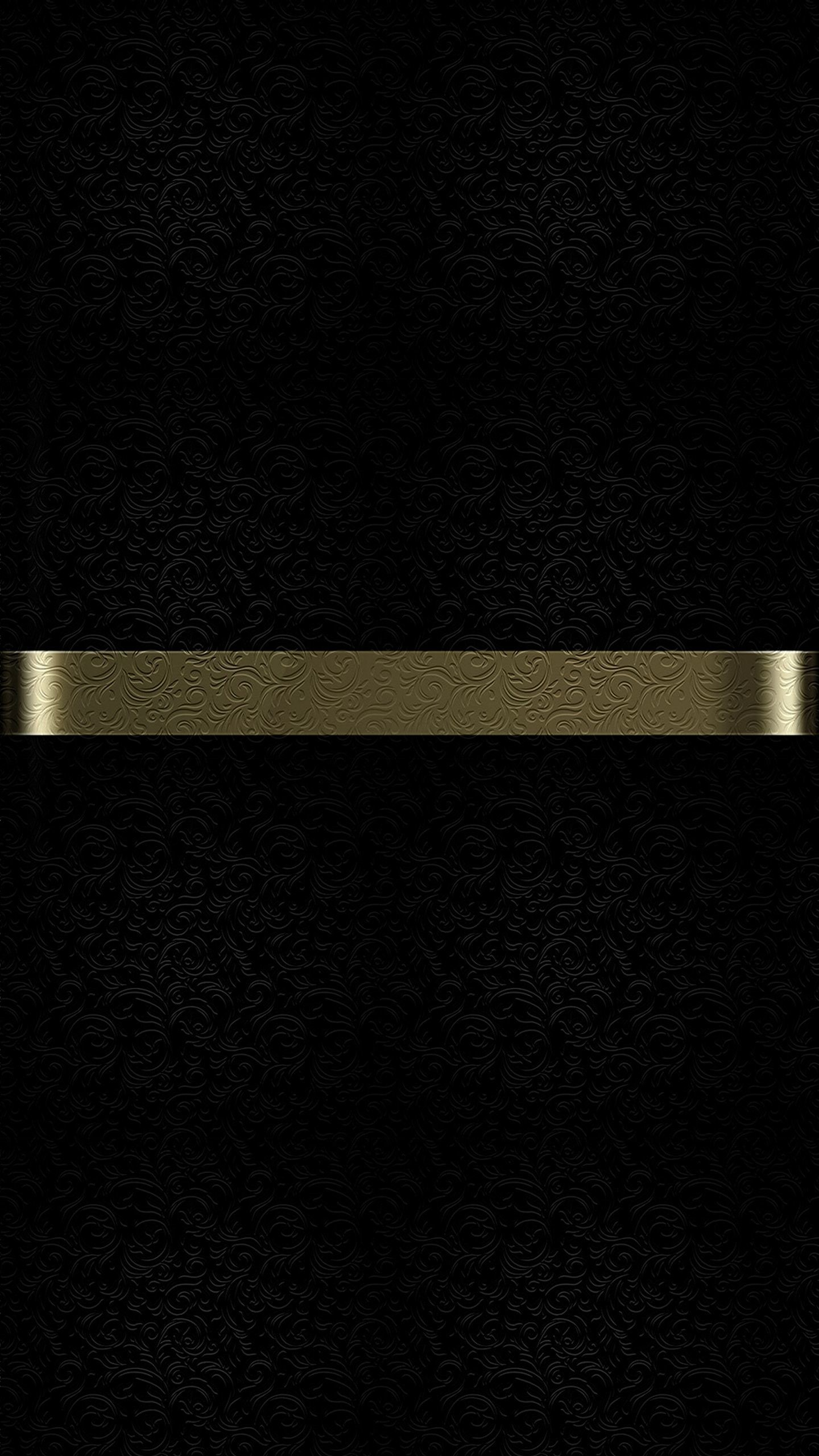Res: 1440x2560, Free Download of Dark S7 Edge Wallpaper 09 with Black Background and Gold  Line with Floral. Floral TextureMetal TextureApple ...