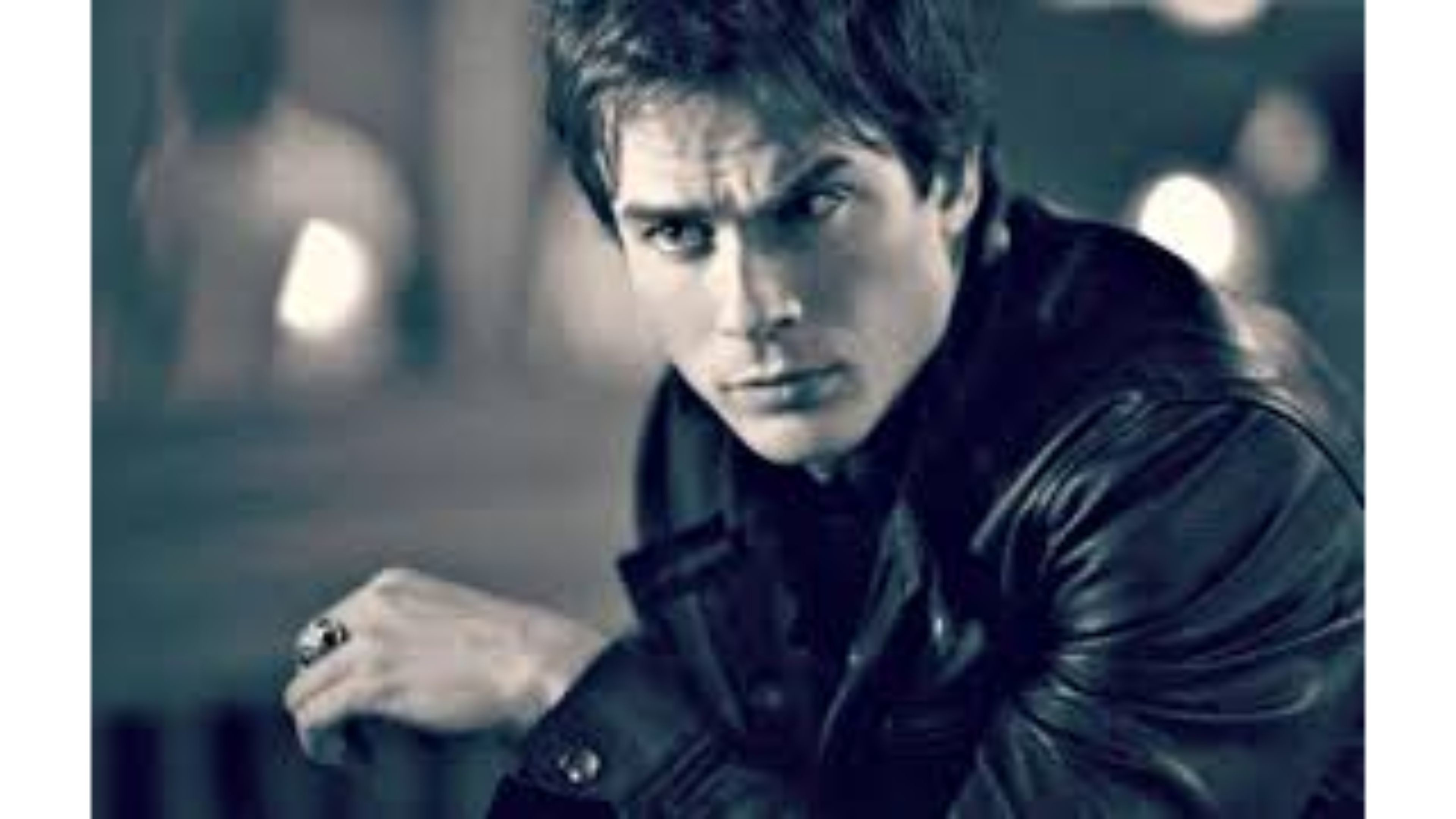Res: 3840x2160, Black and White 4K Ian Somerhalder Wallpapers