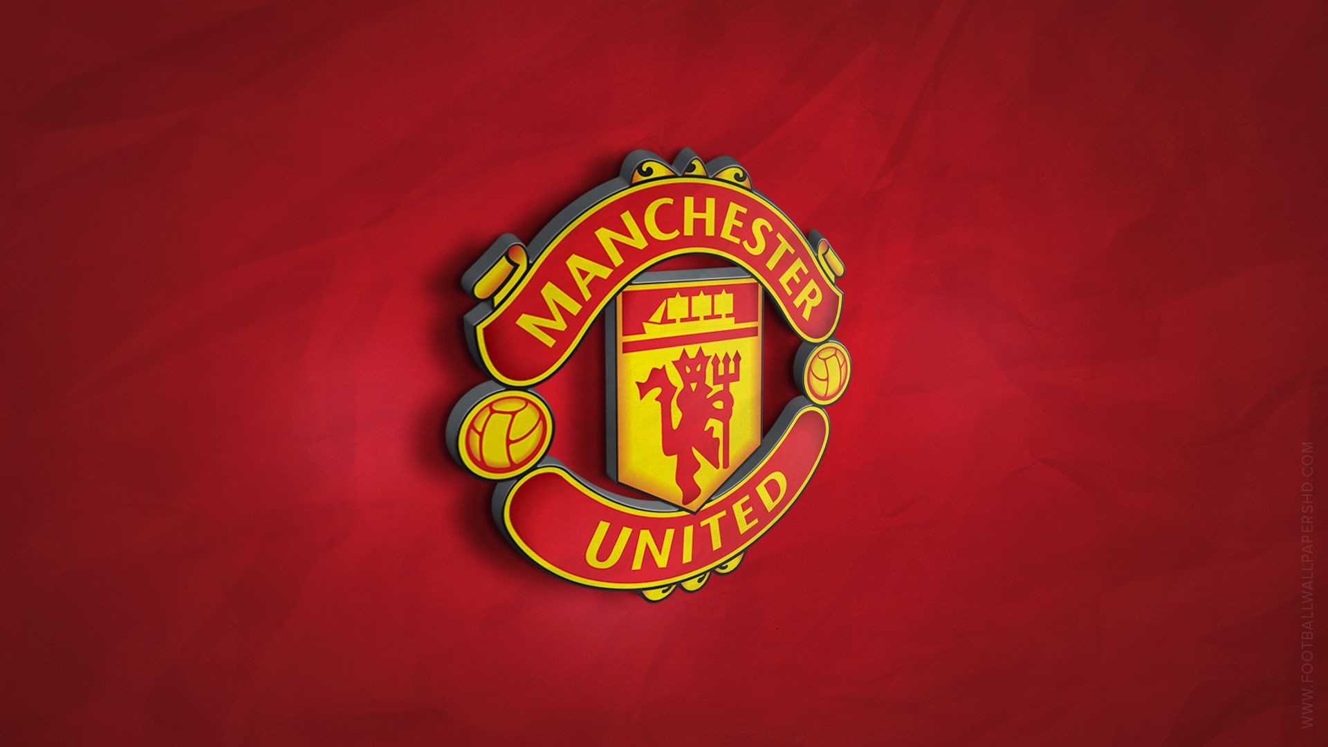 Res: 1920x1080, Manchester United 3D Logo Wallpaper | Football Wallpapers HD