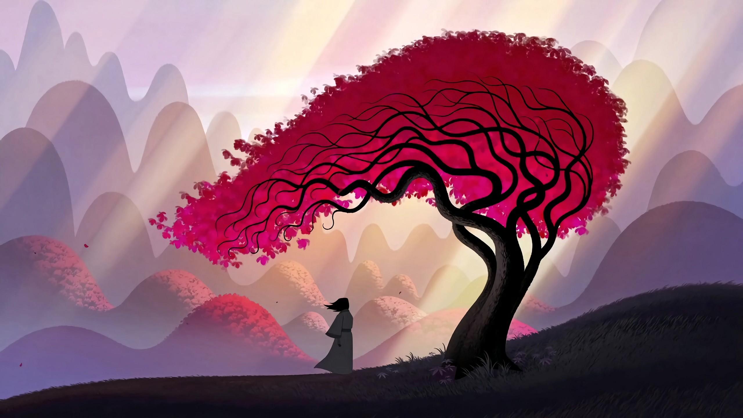 Res: 2560x1440, Fernsehserien - Samurai Jack Baum Wallpaper
