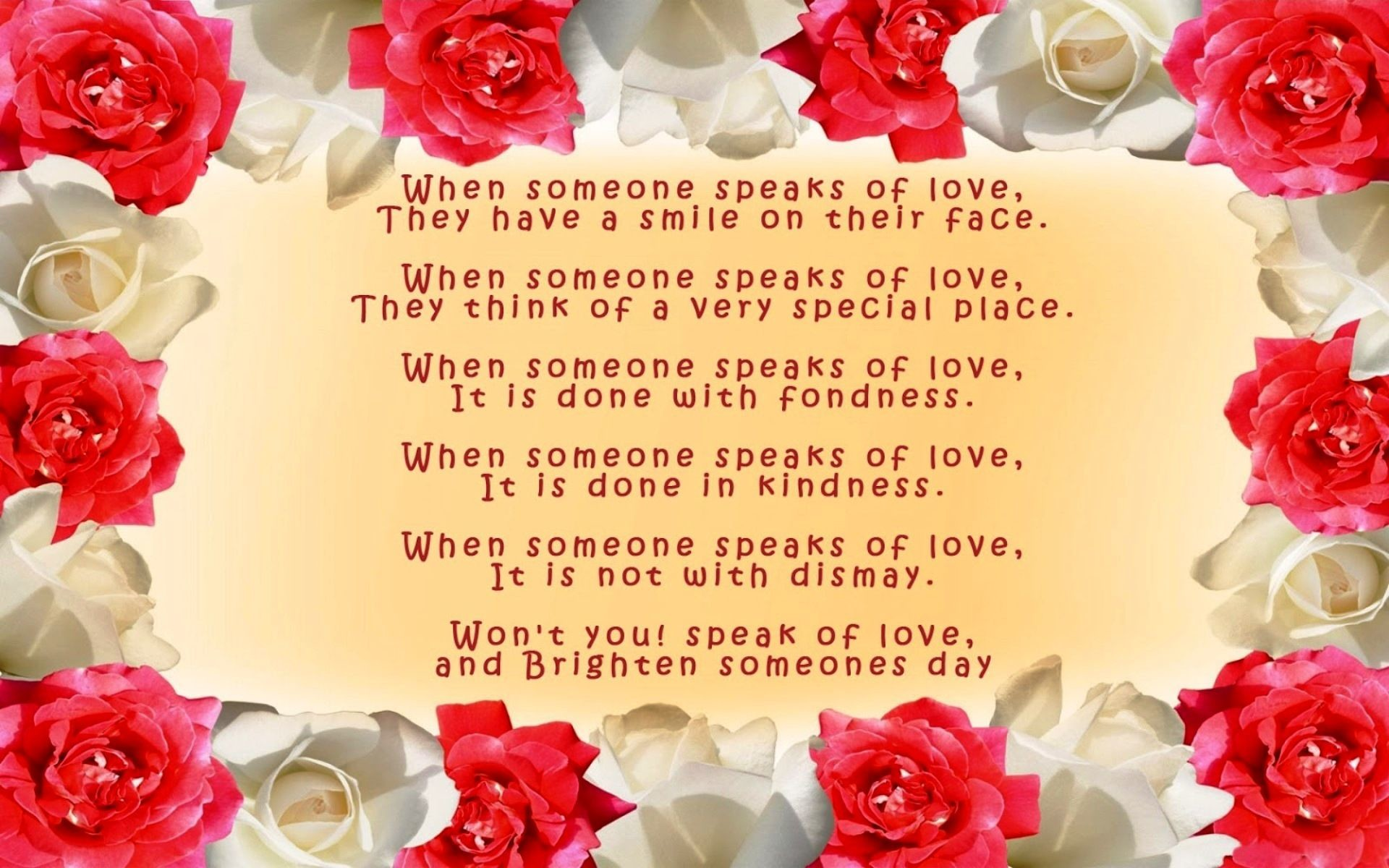 Res: 1920x1200, Free Download Love Poem Roses Wallpaper - Love Poem Roses Wallpaper for  Desktop. Please your
