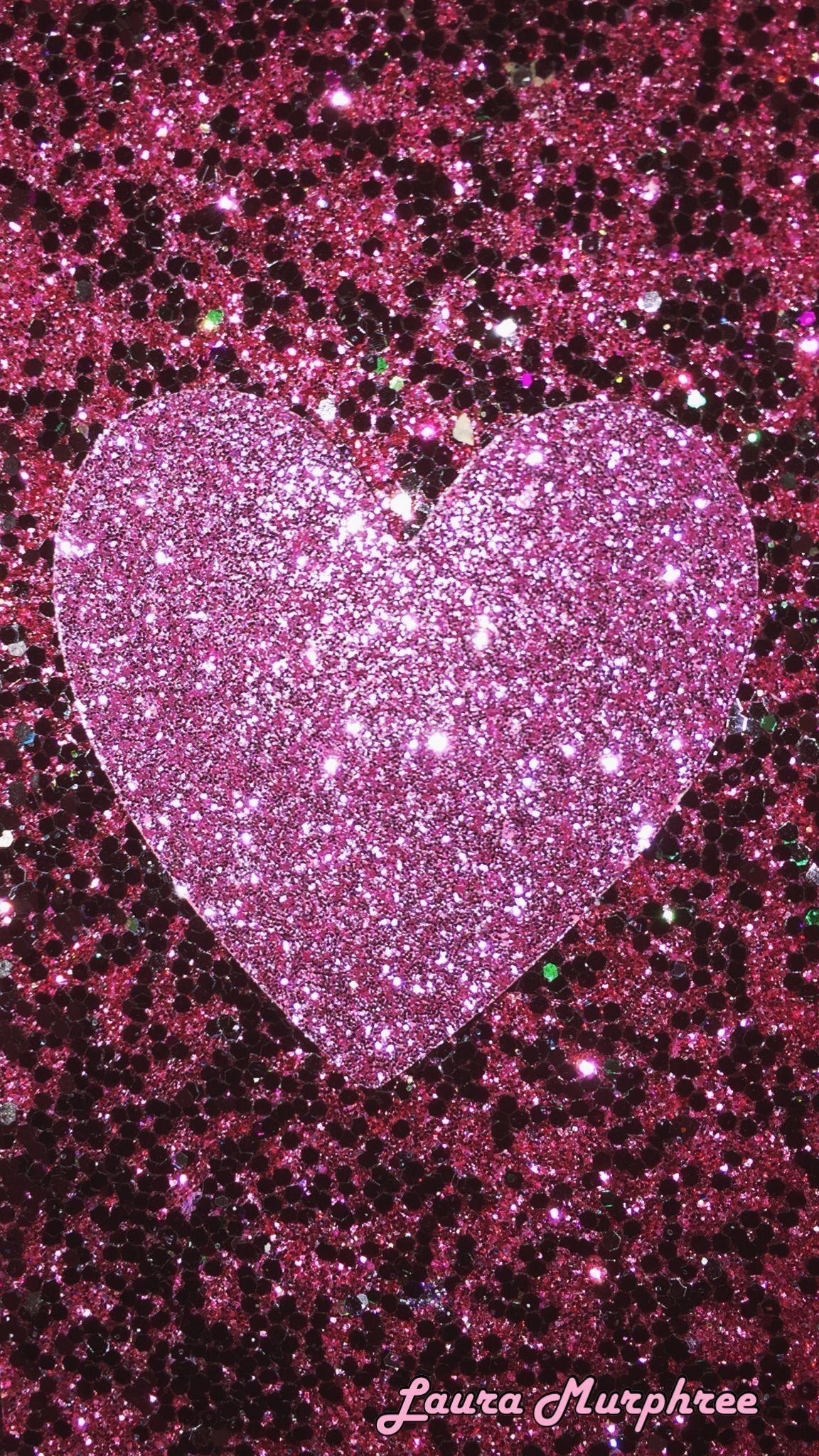 Res: 1152x2048, Glitter phone wallpaper pink sparkle heart background sparkling shimmer  #GlitterFondos