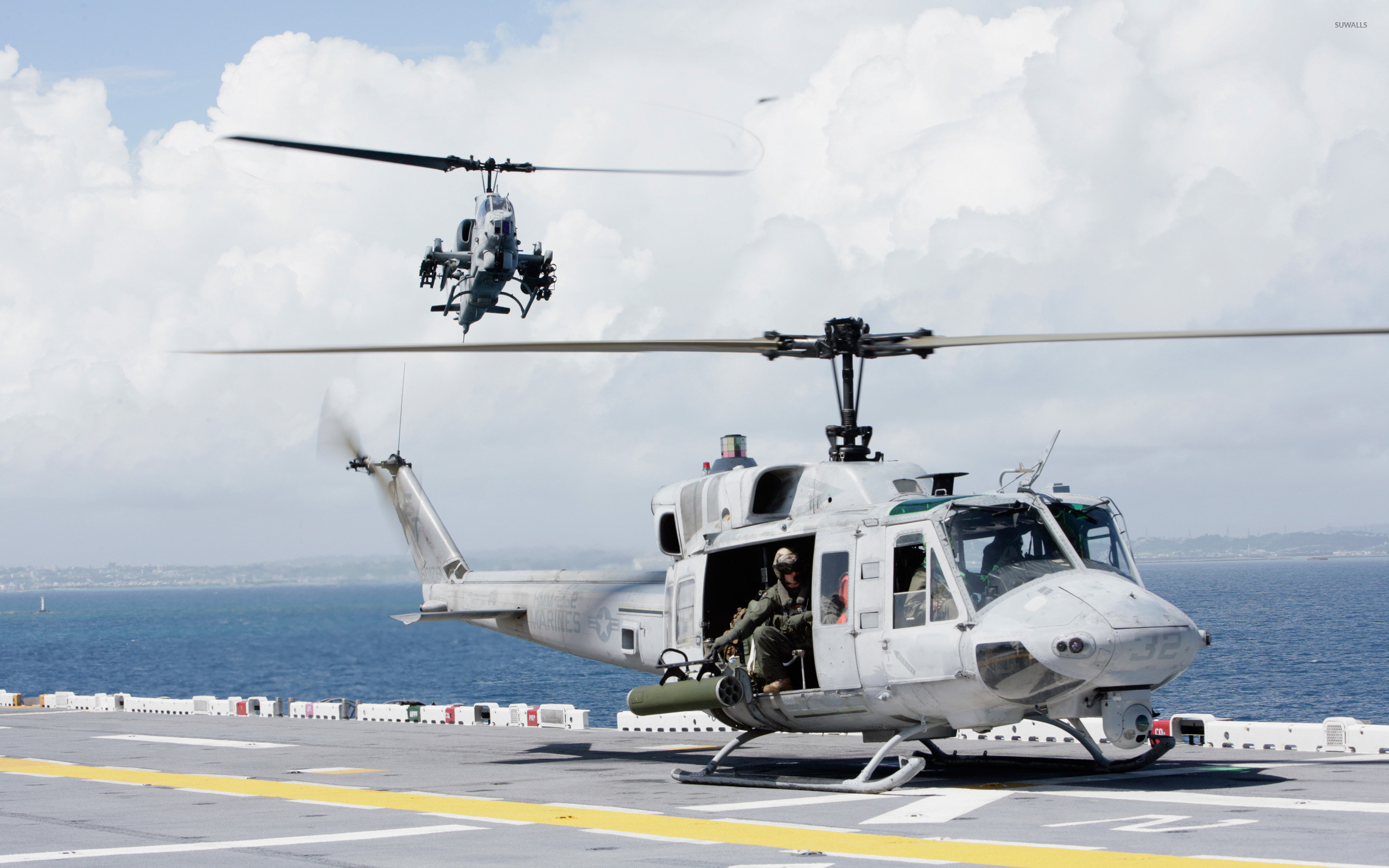 Res: 2560x1600, Bell UH-1N Twin Huey wallpaper