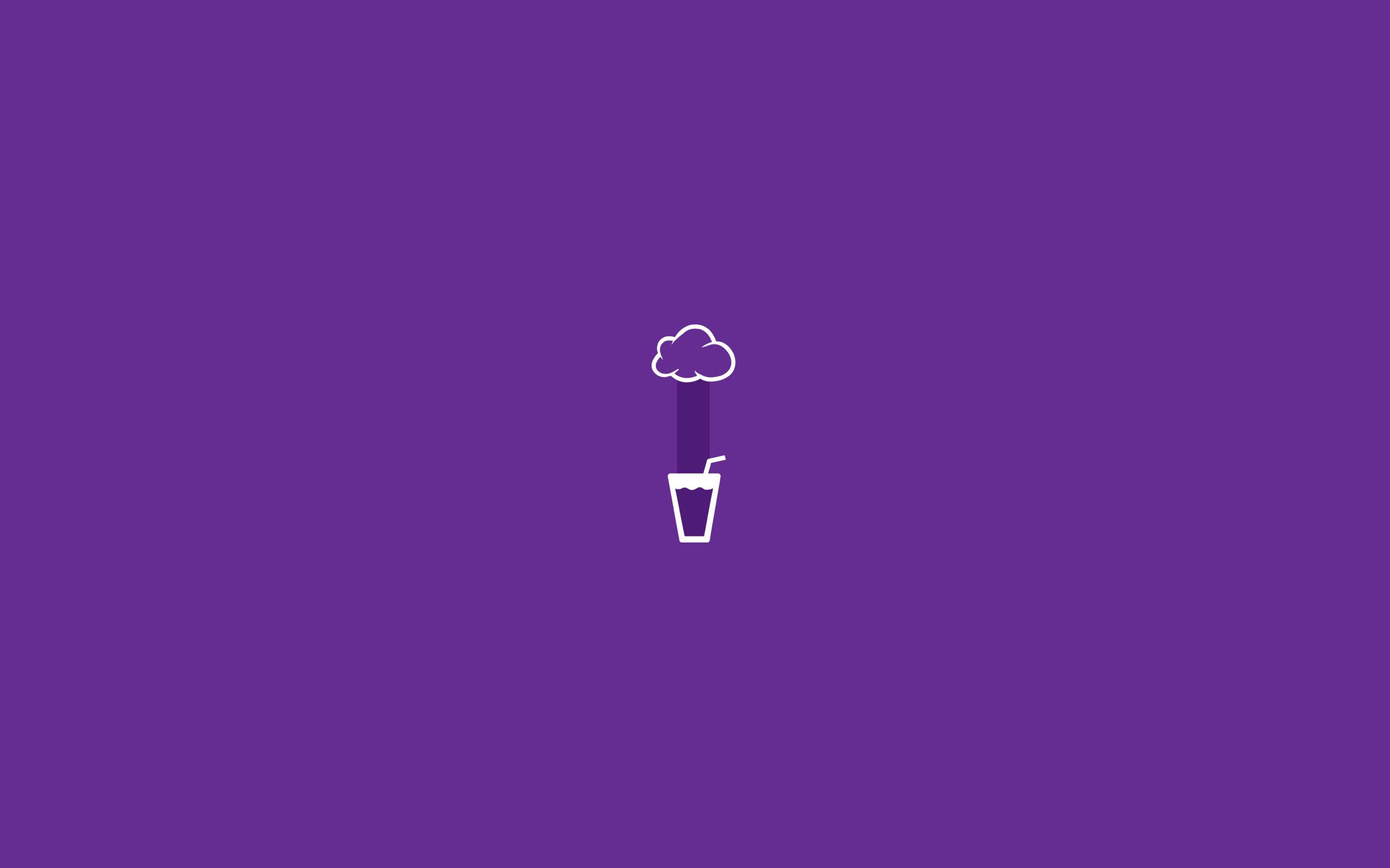Res: 2560x1600, Glass rain minimalist wallpaper violet