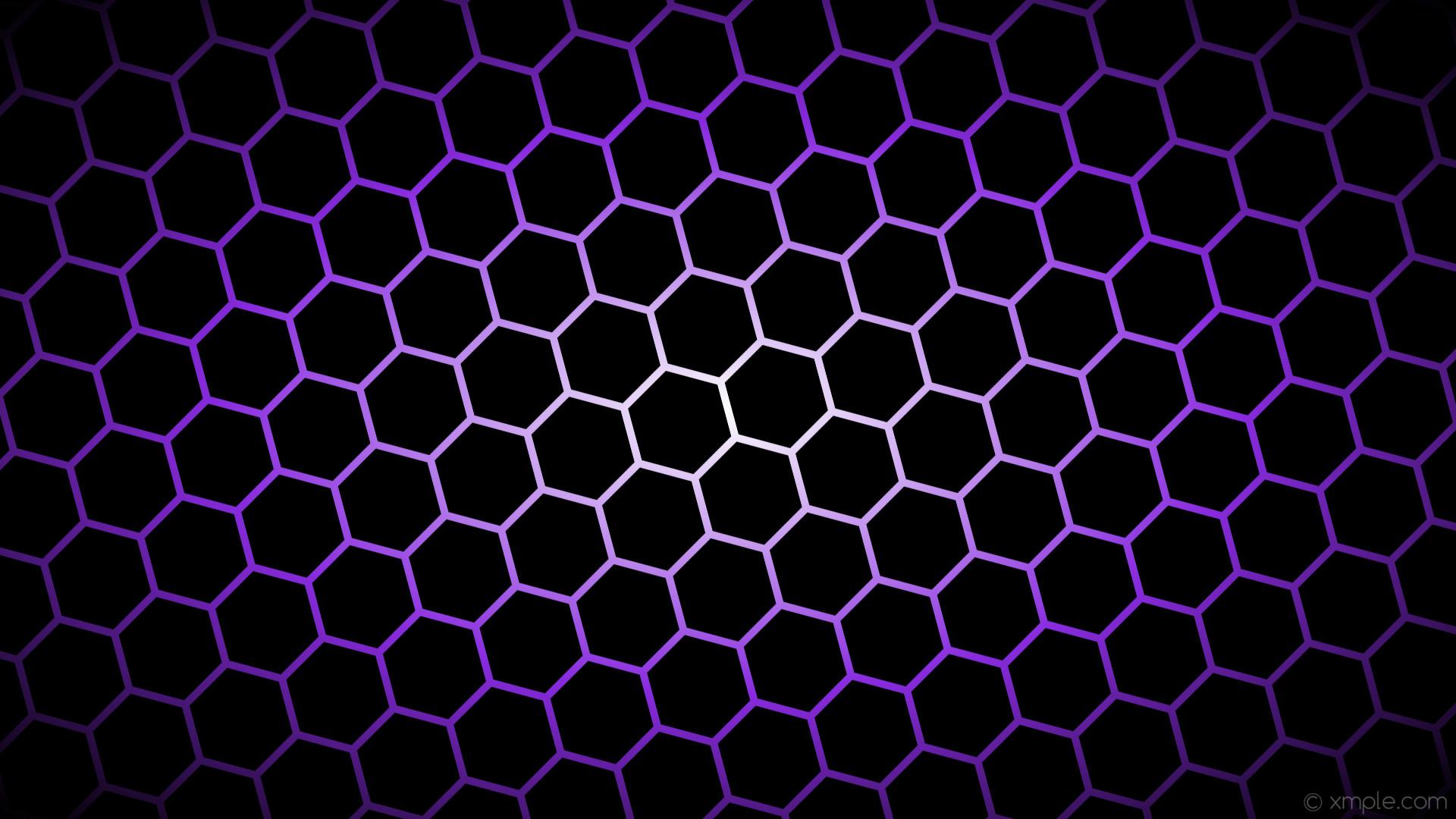 Res: 1920x1080, wallpaper black glow hexagon white purple gradient blue violet #000000  #ffffff #8a2be2 diagonal