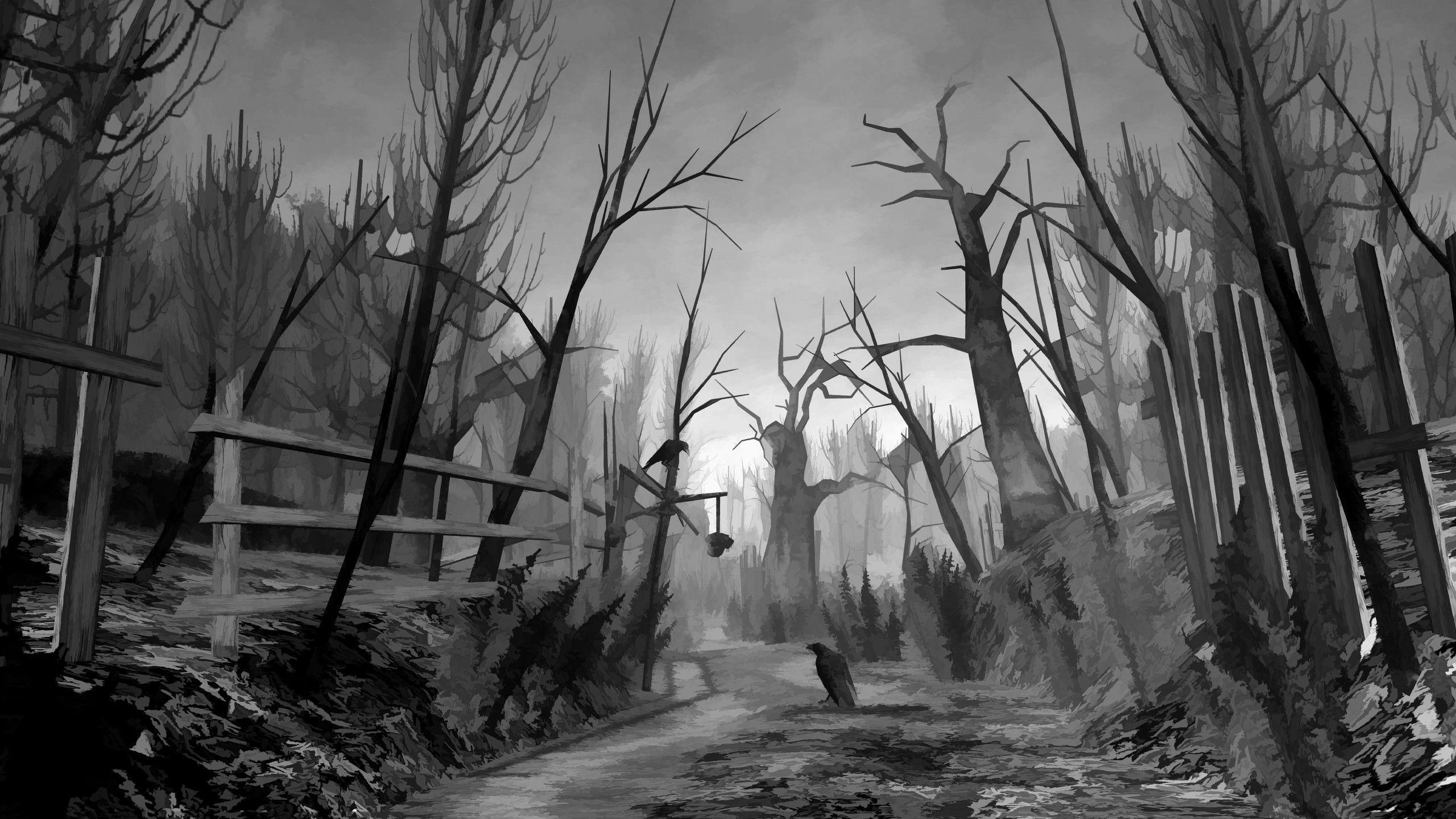 Res: 2560x1440, Scary Backgrounds Wallpaper 2560×1440 Creepy Forest Backgrounds (35  Wallpapers) | Adorable Wallpapers