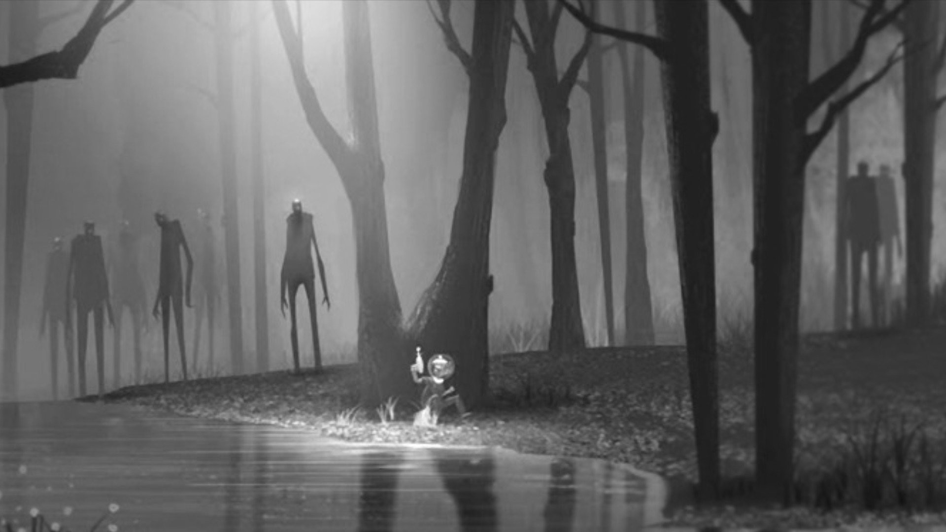 Res: 1920x1080, forest, dark macbook, chase, kid, hd artworks, zombies, alien, child,  iphone,art, horror, peace, fantasy,scifi Wallpaper HD