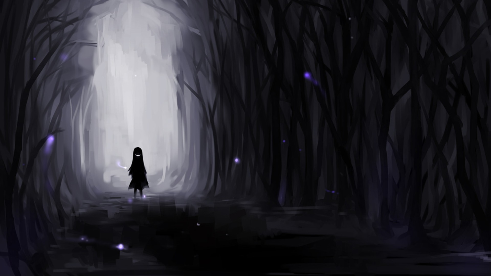 Res: 1920x1080, Dark clipart creepy forest #9