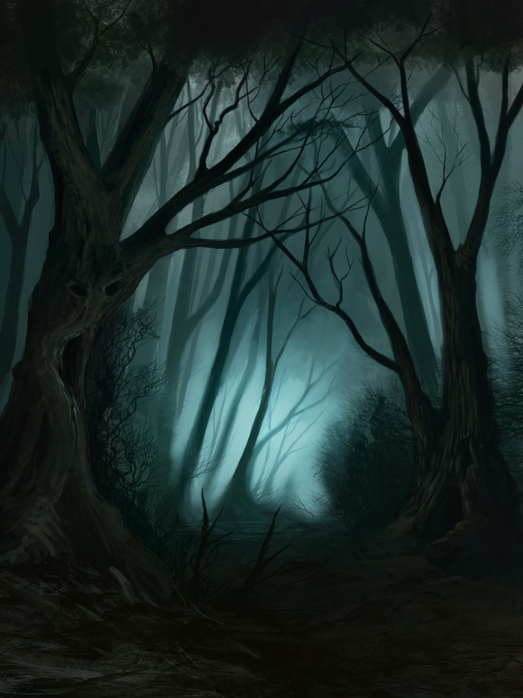 Res: 1800x2400, creepy forest wallpaper #531198
