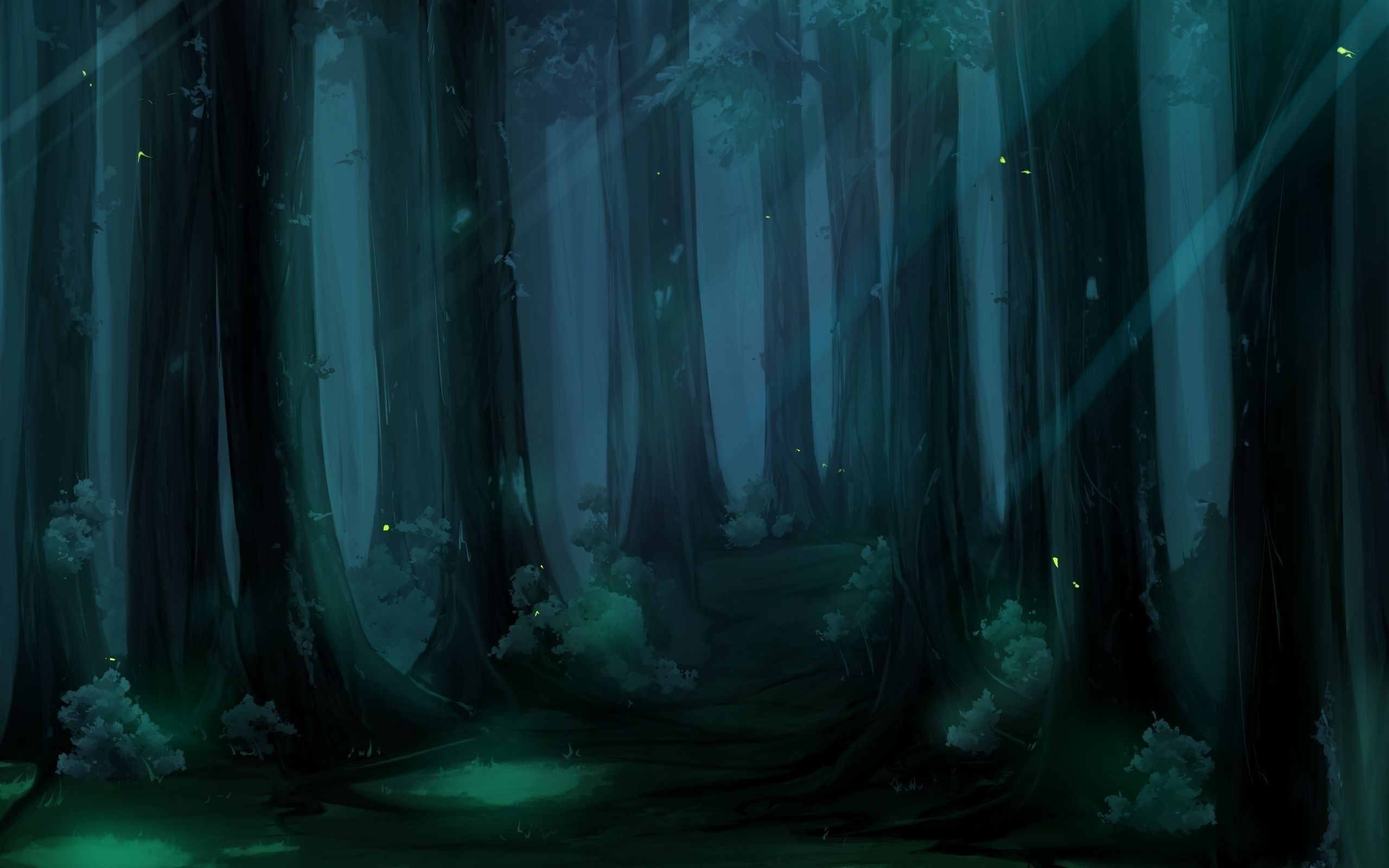 Res: 2560x1600, Fantasy Forest - 1623292