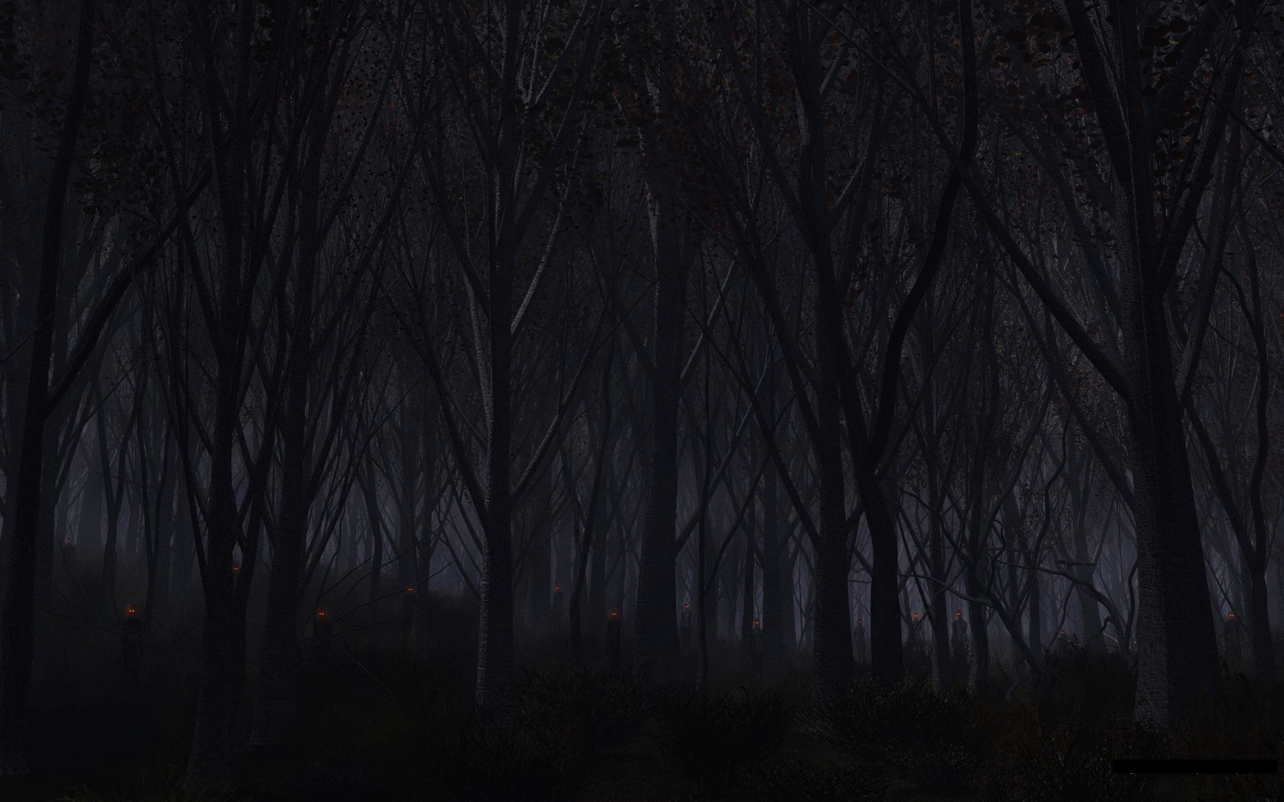 Res: 2560x1600, Creepy Forest id 107398 Source · Dark Scary Wallpapers