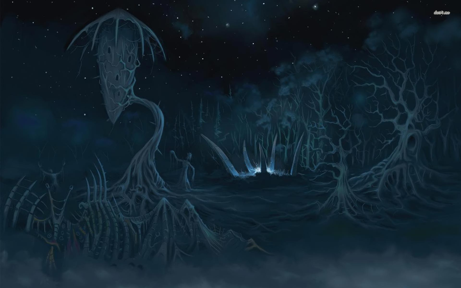Res: 1920x1200, ... Dark forest wallpaper  ...