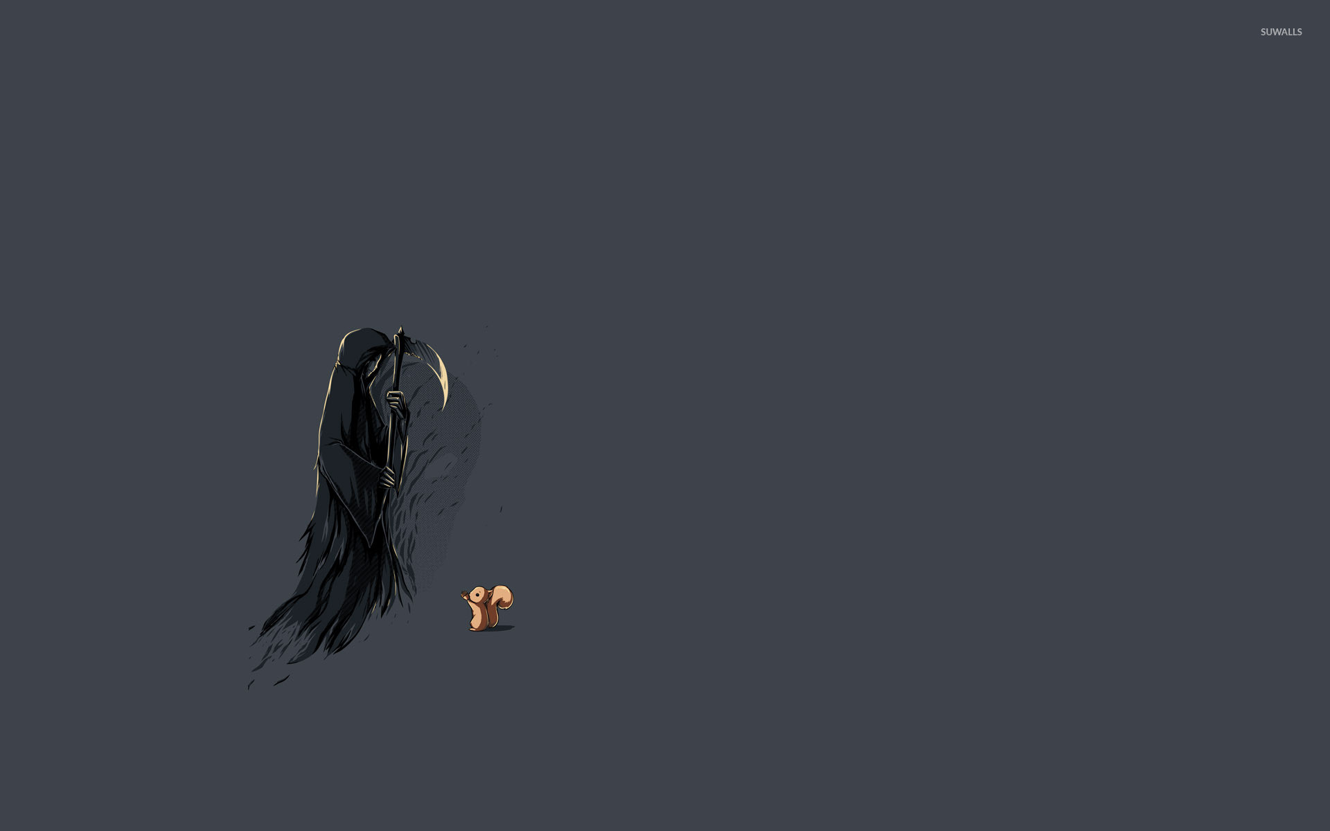 Res: 1920x1200, Squirrel and the grim reaper wallpaper