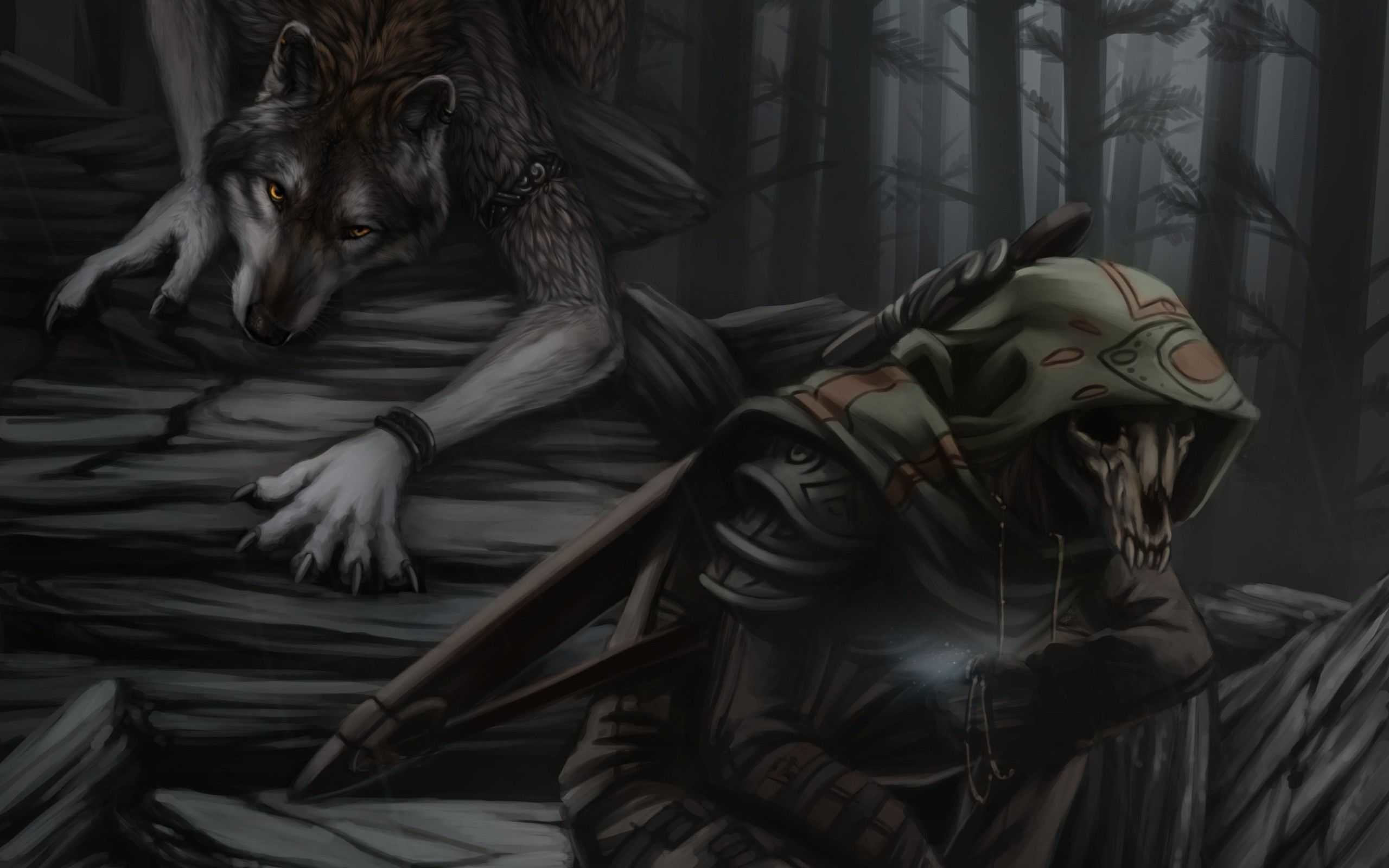 Res: 2560x1600, Grim Reaper Wallpaper Hd Widescreen Werewolf And Fantasy Of Iphone