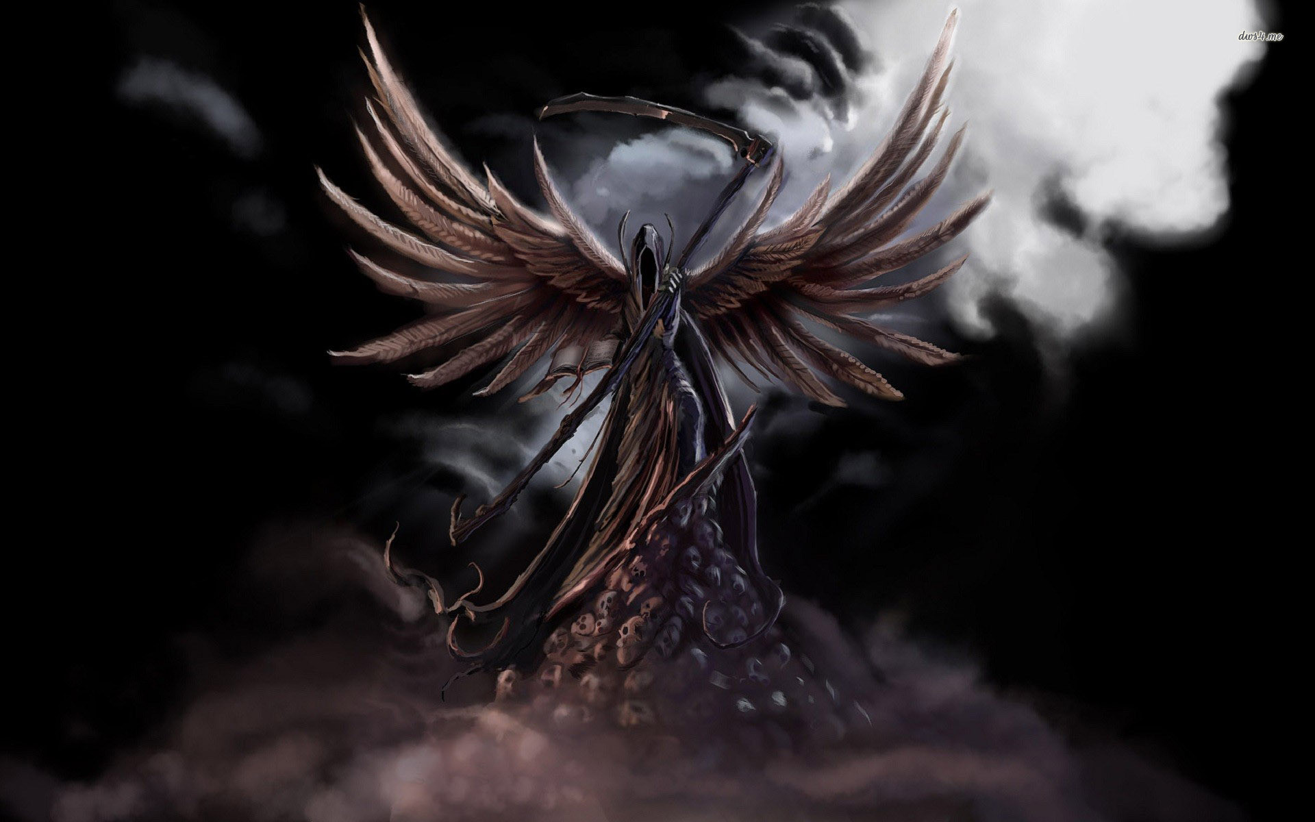 Res: 1920x1200, Drawn grim reaper angel wing #3