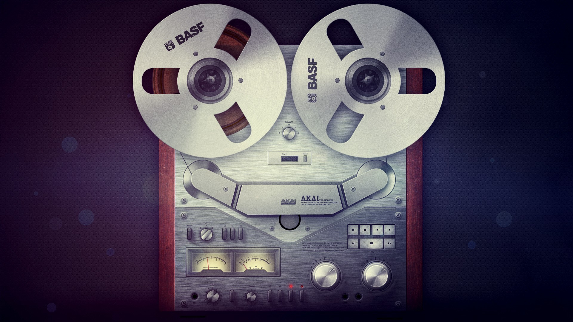 Res: 1920x1080, Music - Tape Retro Audio Wallpaper