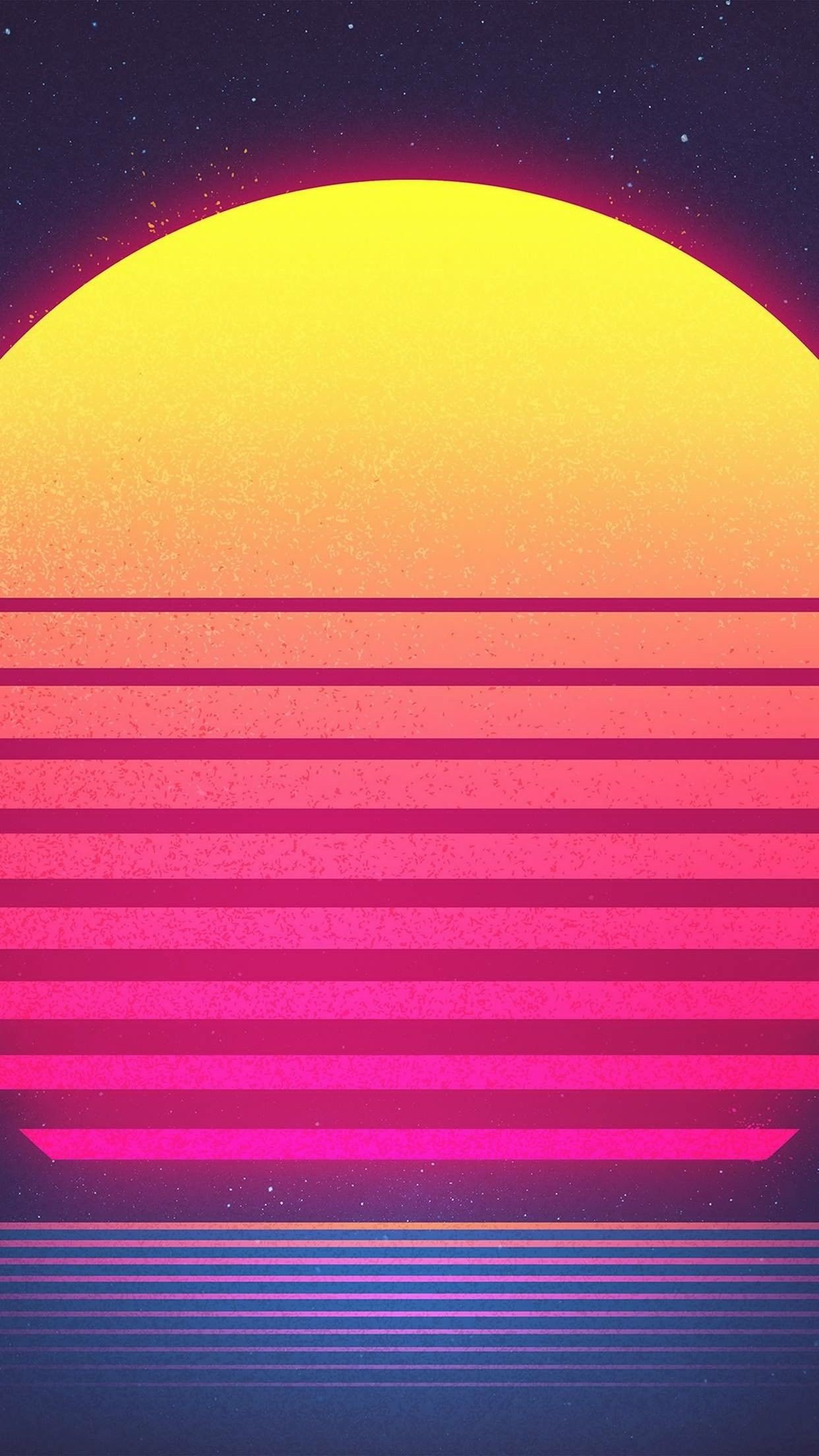 Res: 1242x2208, Music Wallpaper, Wallpaper For Iphone, Wallpaper Backgrounds, Retro  Colours, Sun Art, Retro Art, Cover Art, Art Illustrations, Smartphone