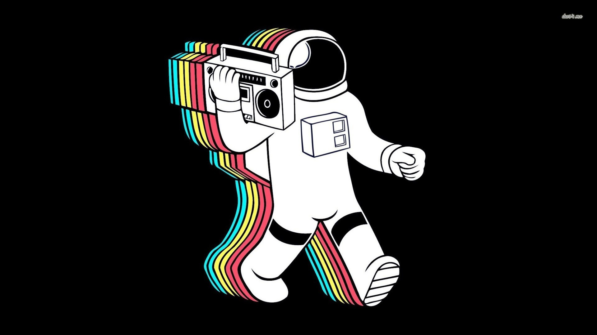 Res: 1920x1080, ... Astronaut and boombox wallpaper  ...